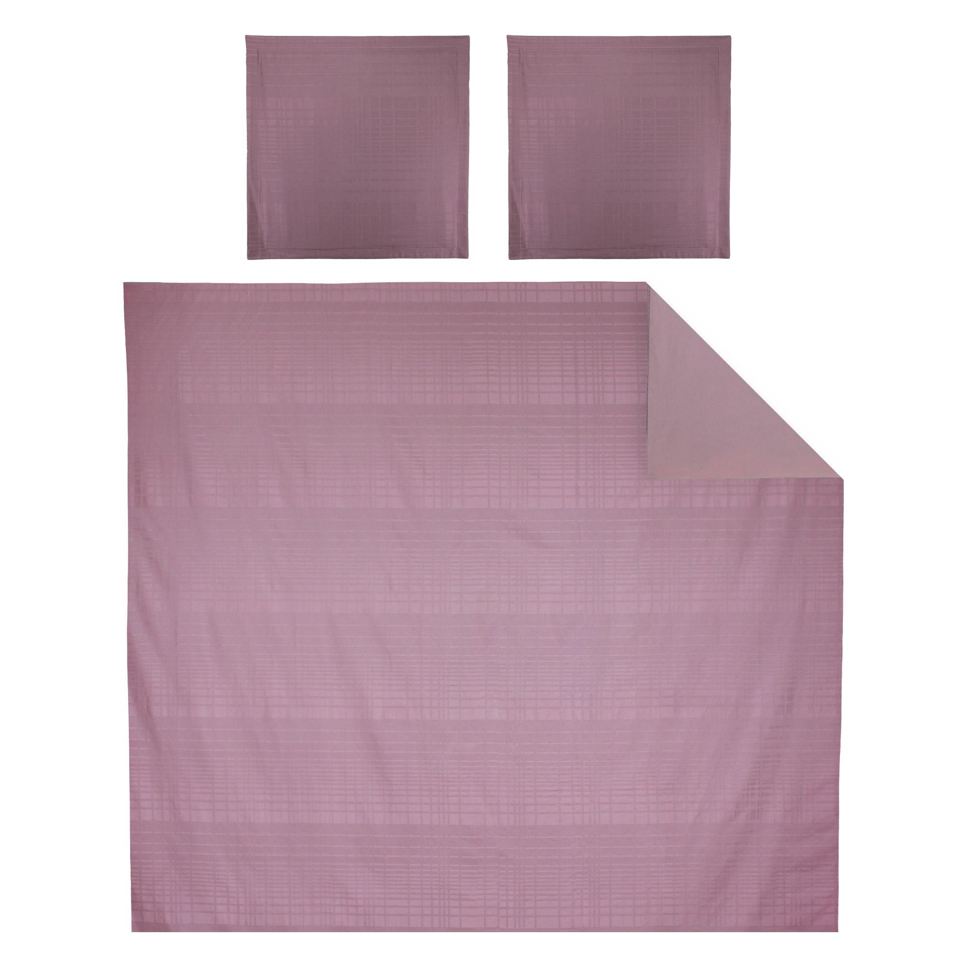 parure de lit 240x220 satin de coton pigalle violet ebay. Black Bedroom Furniture Sets. Home Design Ideas