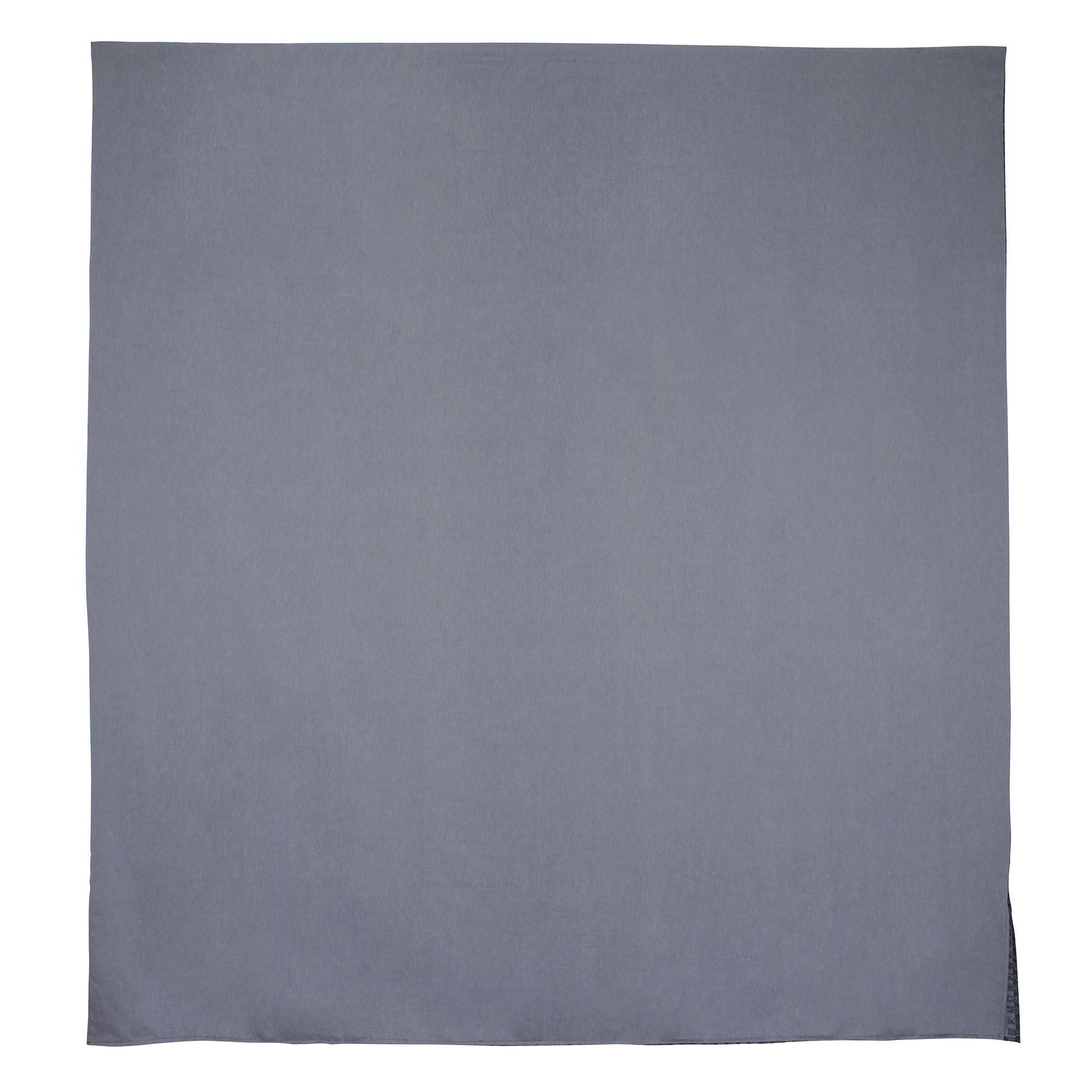 parure de lit 240x220 satin de coton trocadero gris anthracite ebay. Black Bedroom Furniture Sets. Home Design Ideas
