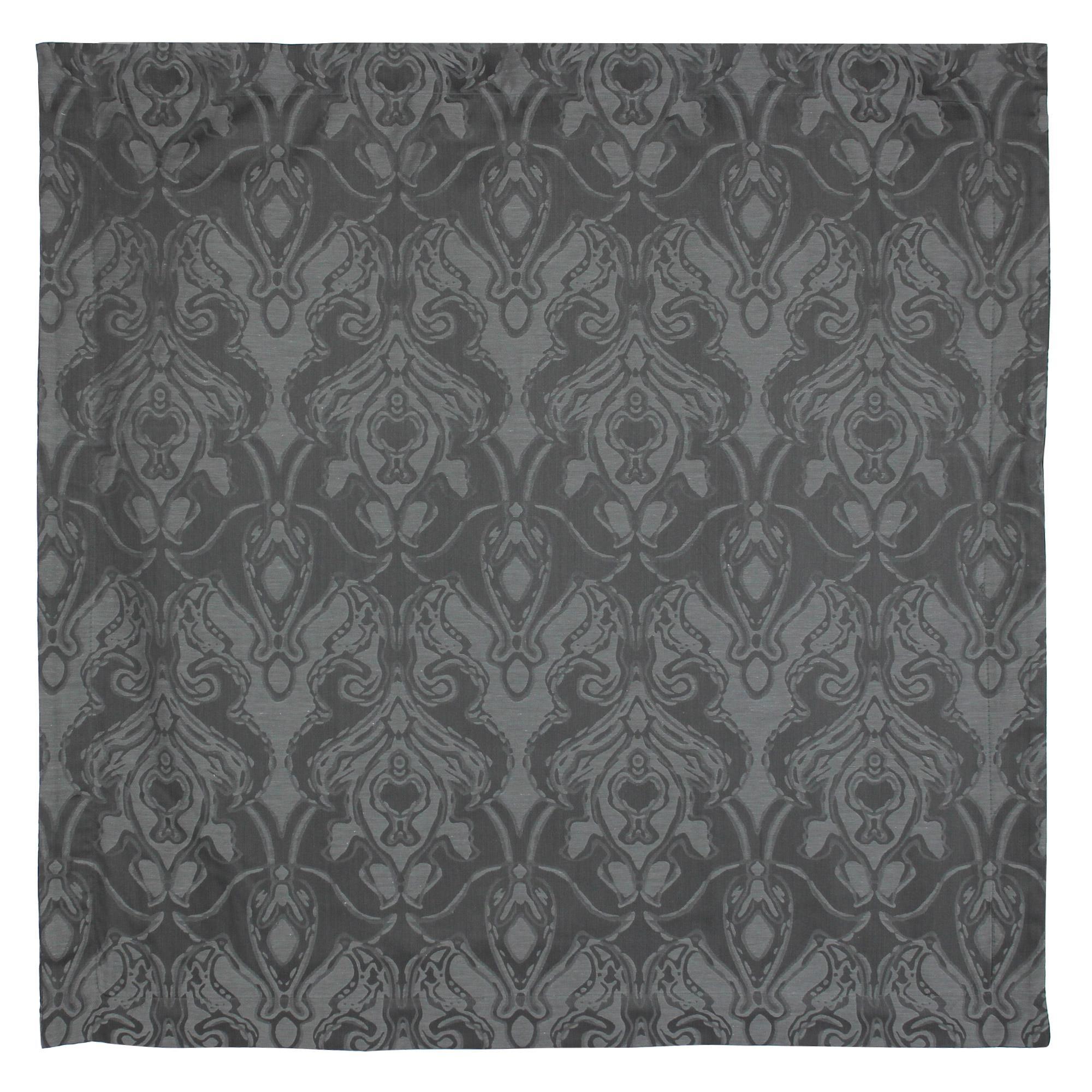 parure de lit 240x220 satin de coton vosges gris fonc ebay. Black Bedroom Furniture Sets. Home Design Ideas