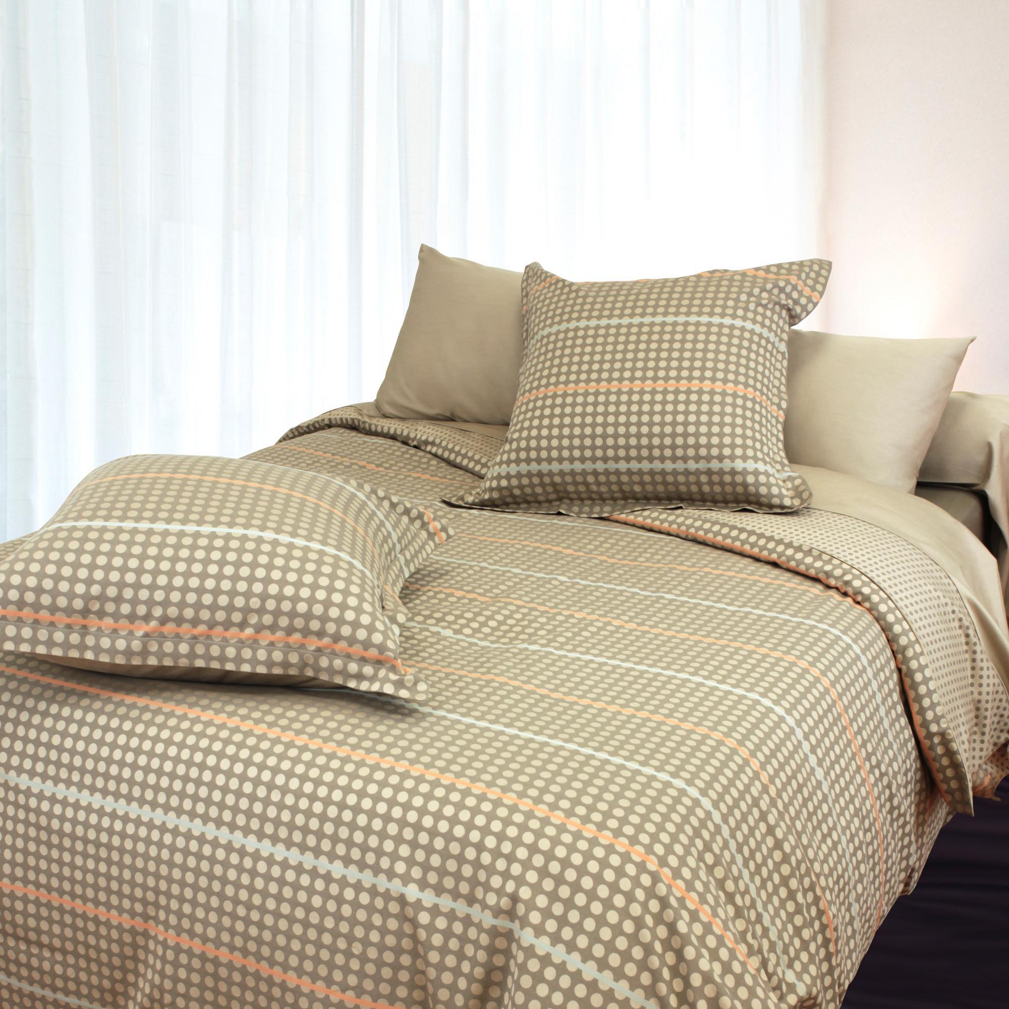 parure de lit satin de coton tiss teint 260x240 cm dauphine linnea linge de maison et. Black Bedroom Furniture Sets. Home Design Ideas