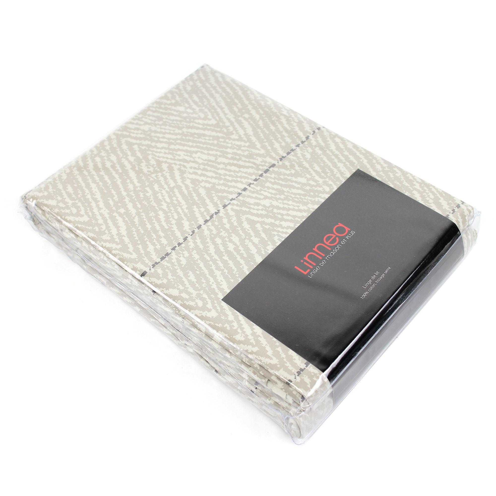 Parure de lit satin de coton tiss teint 260x240 cm odeon for Housse de couette guy laroche
