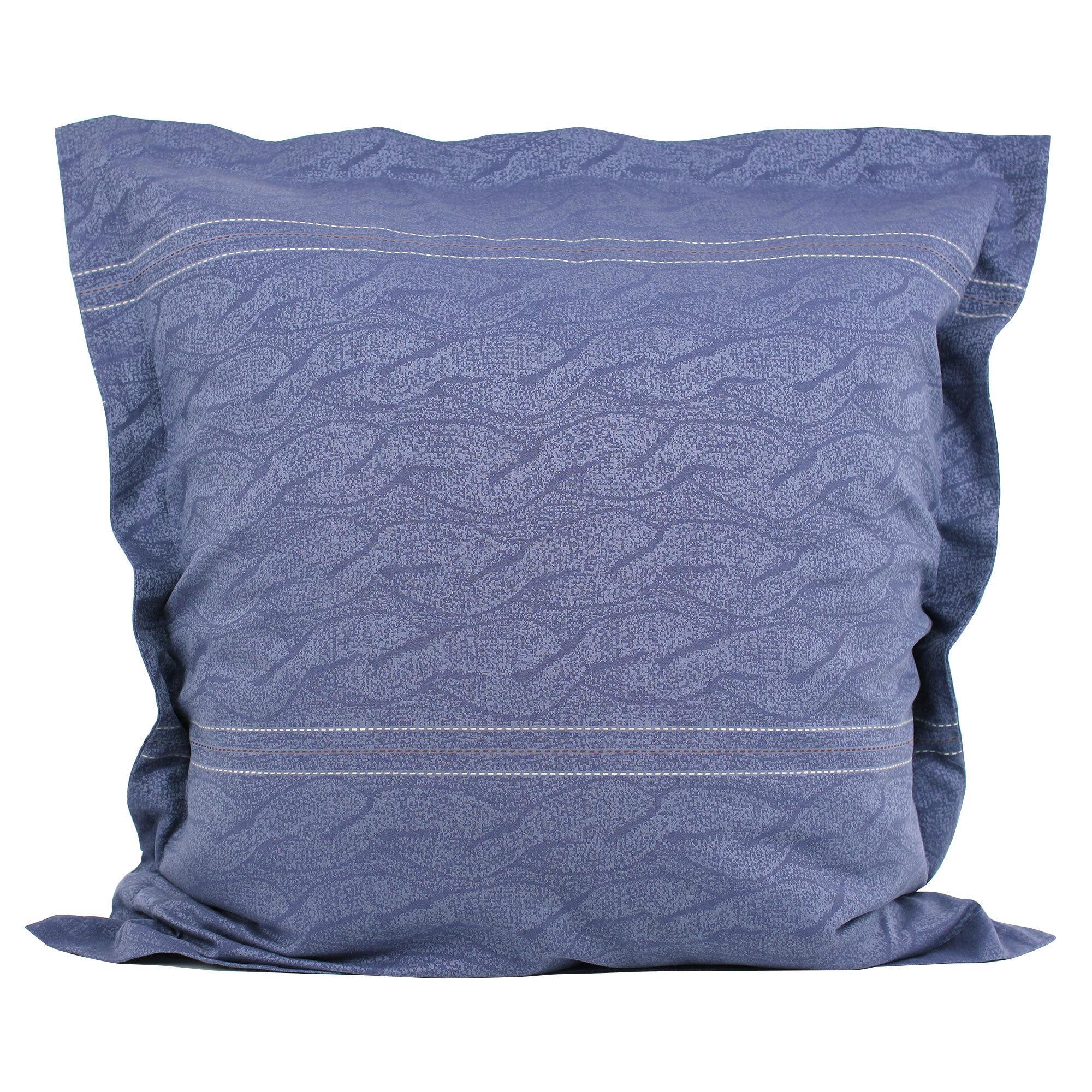 Parure de lit 260x240 satin de coton vendome bleu fonc ebay for Parure de lit 240x260 coton