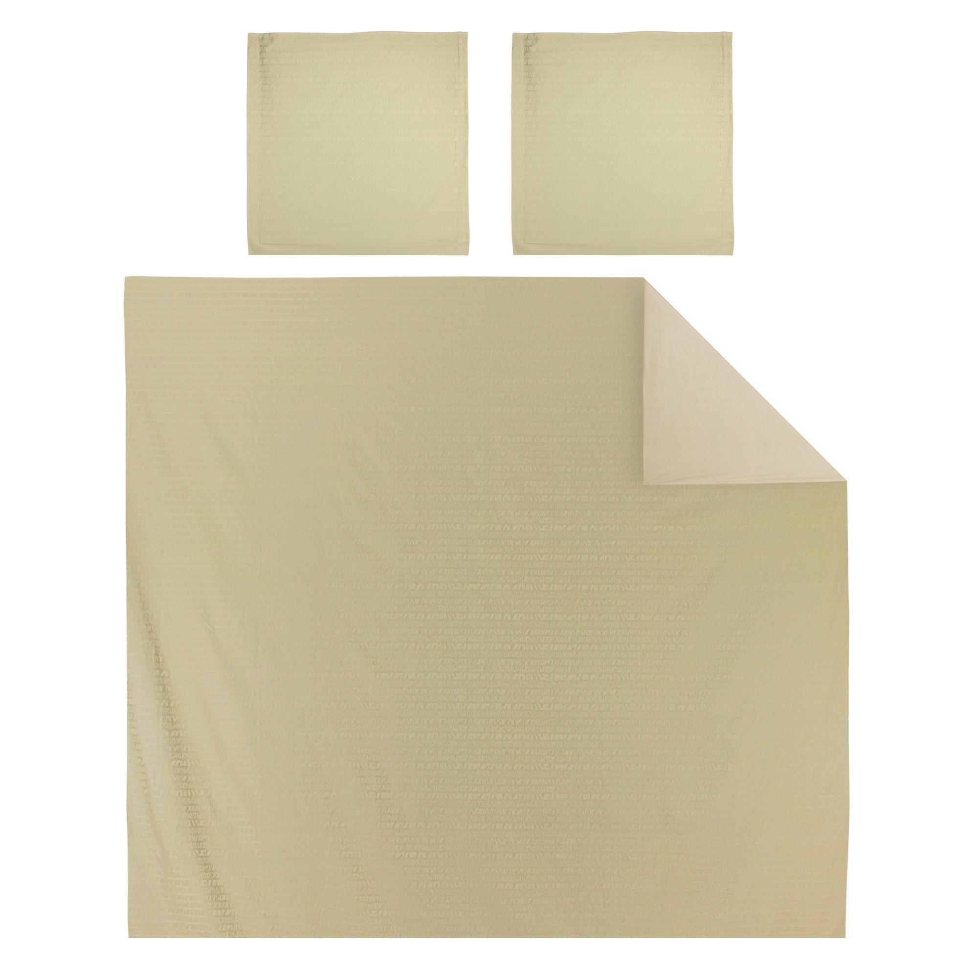 parure de lit 260x240 satin de coton victoire marron clair ebay. Black Bedroom Furniture Sets. Home Design Ideas