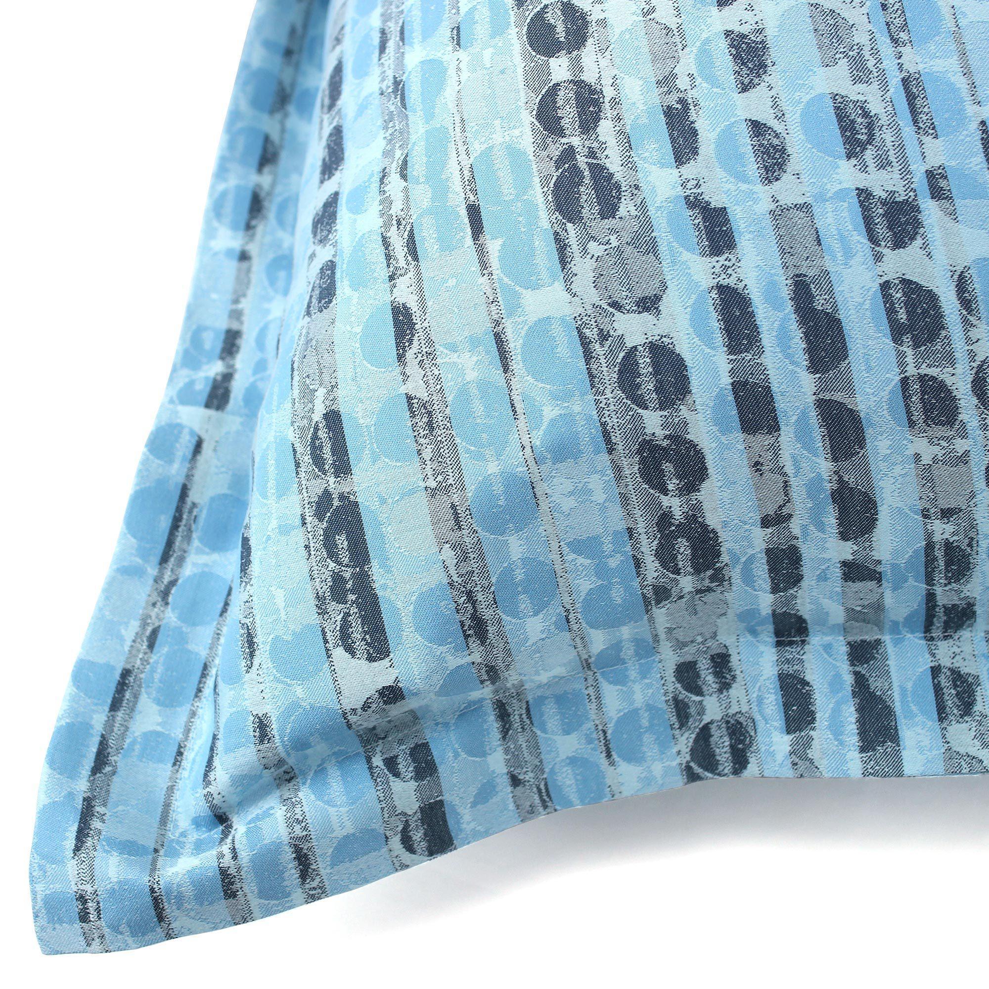 parure de lit 280x240 satin de coton louvre bleu clair ebay. Black Bedroom Furniture Sets. Home Design Ideas