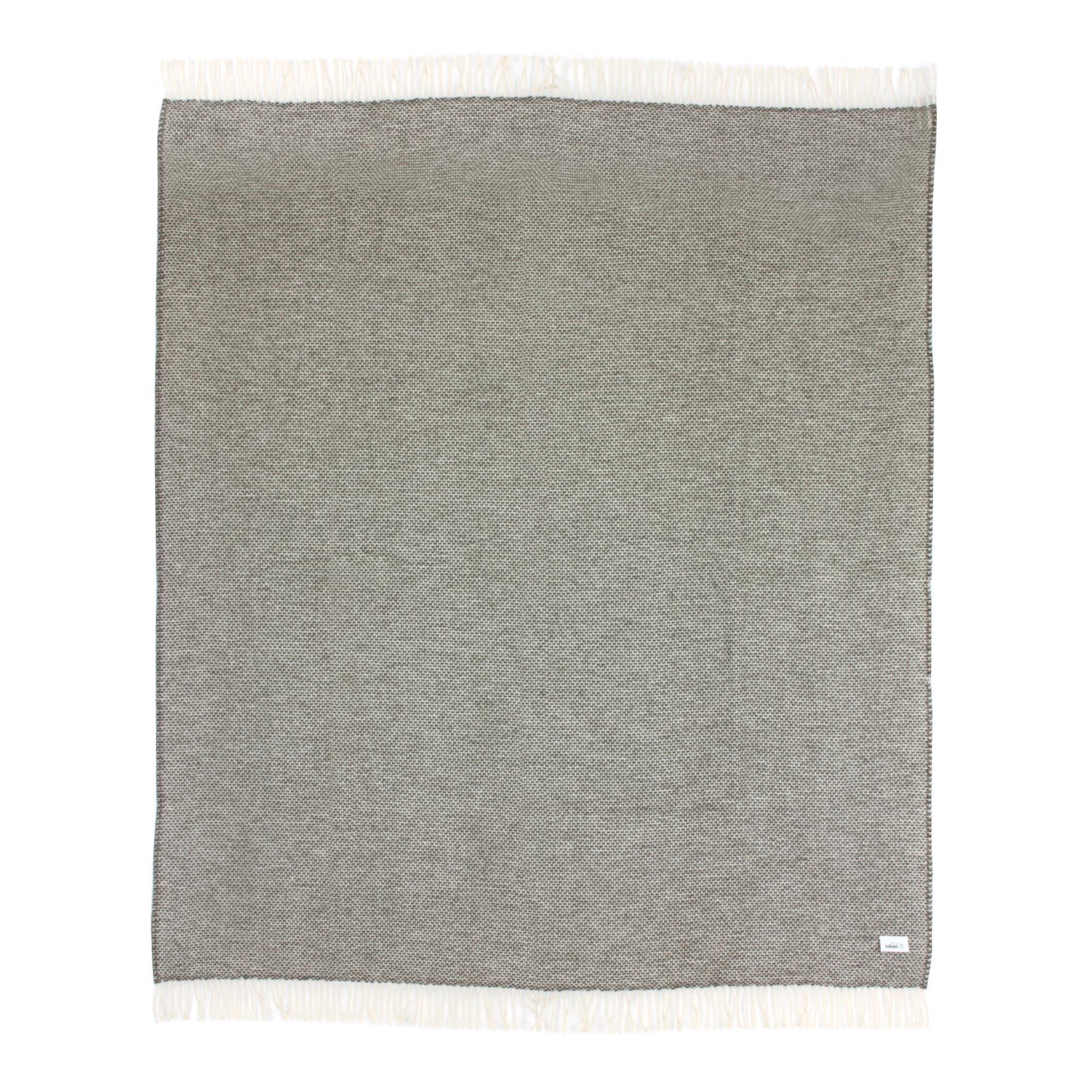Plaid 130x170 cm 40% alpaga 60% mérinos laine 360 g m2 ANDINE Gris Graphite 7d1d43be4c1