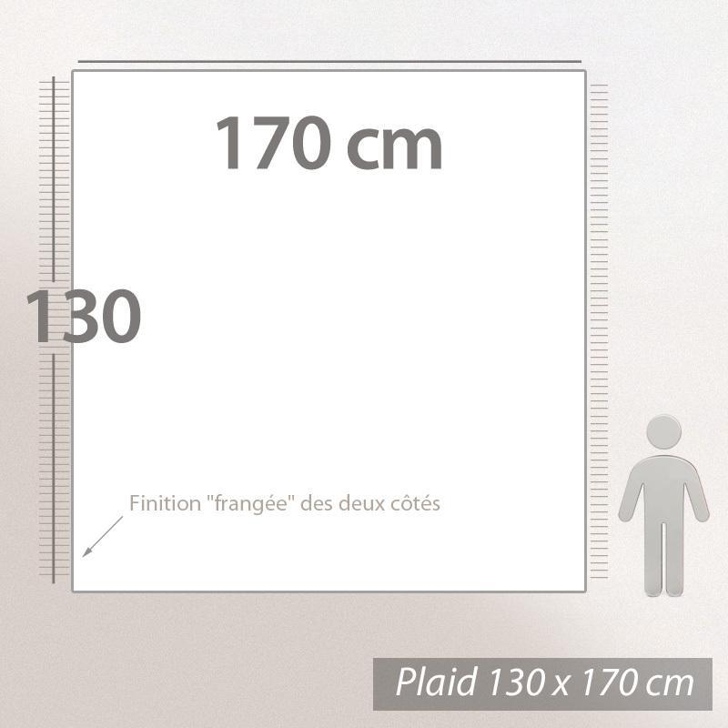6efb49d45b48 Plaid 130x170 cm 100% laine cachemire 240 g m2 BANGALORE Marron Naturel