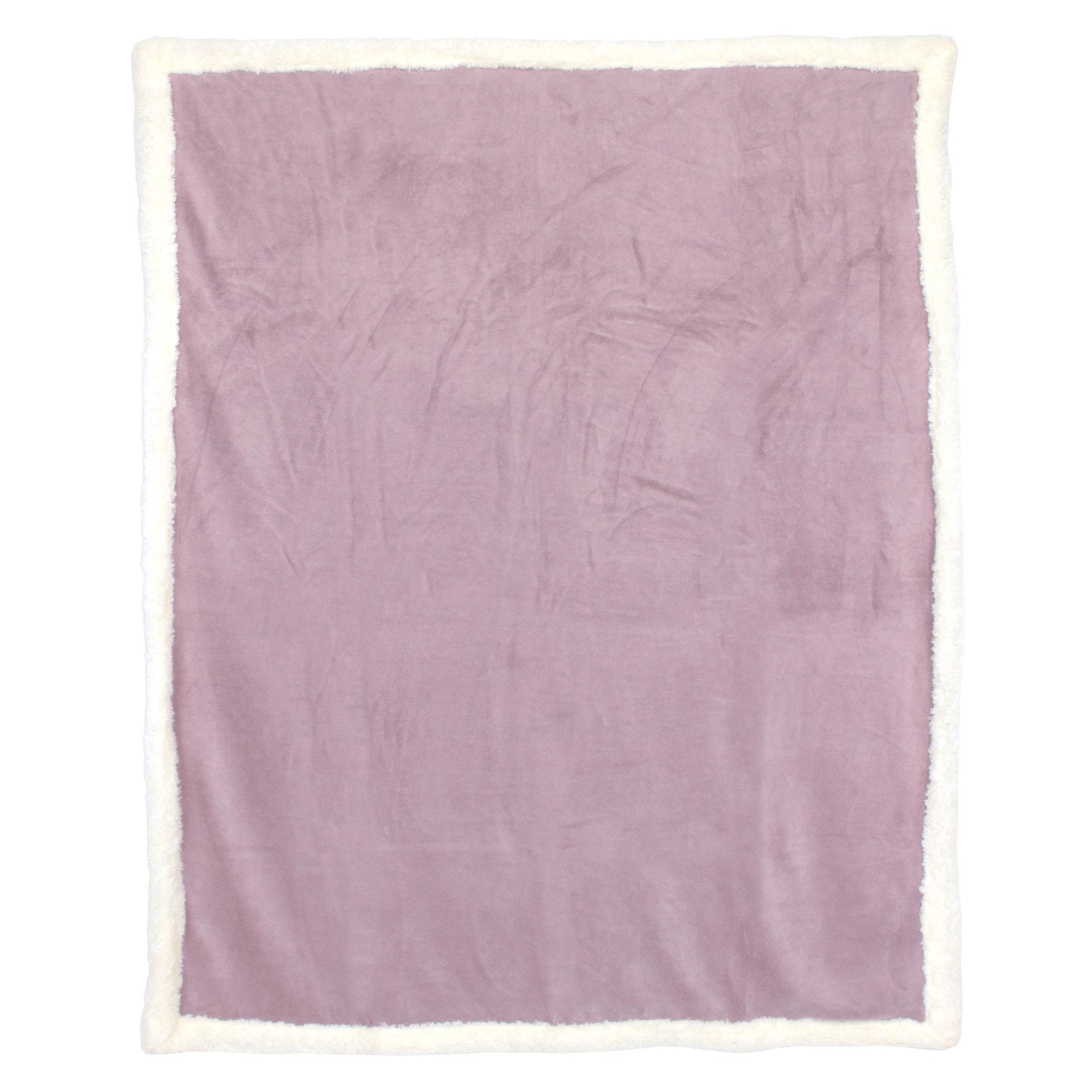 plaid hiver 130x150 polyester 490g m arthur rose poudre ebay. Black Bedroom Furniture Sets. Home Design Ideas