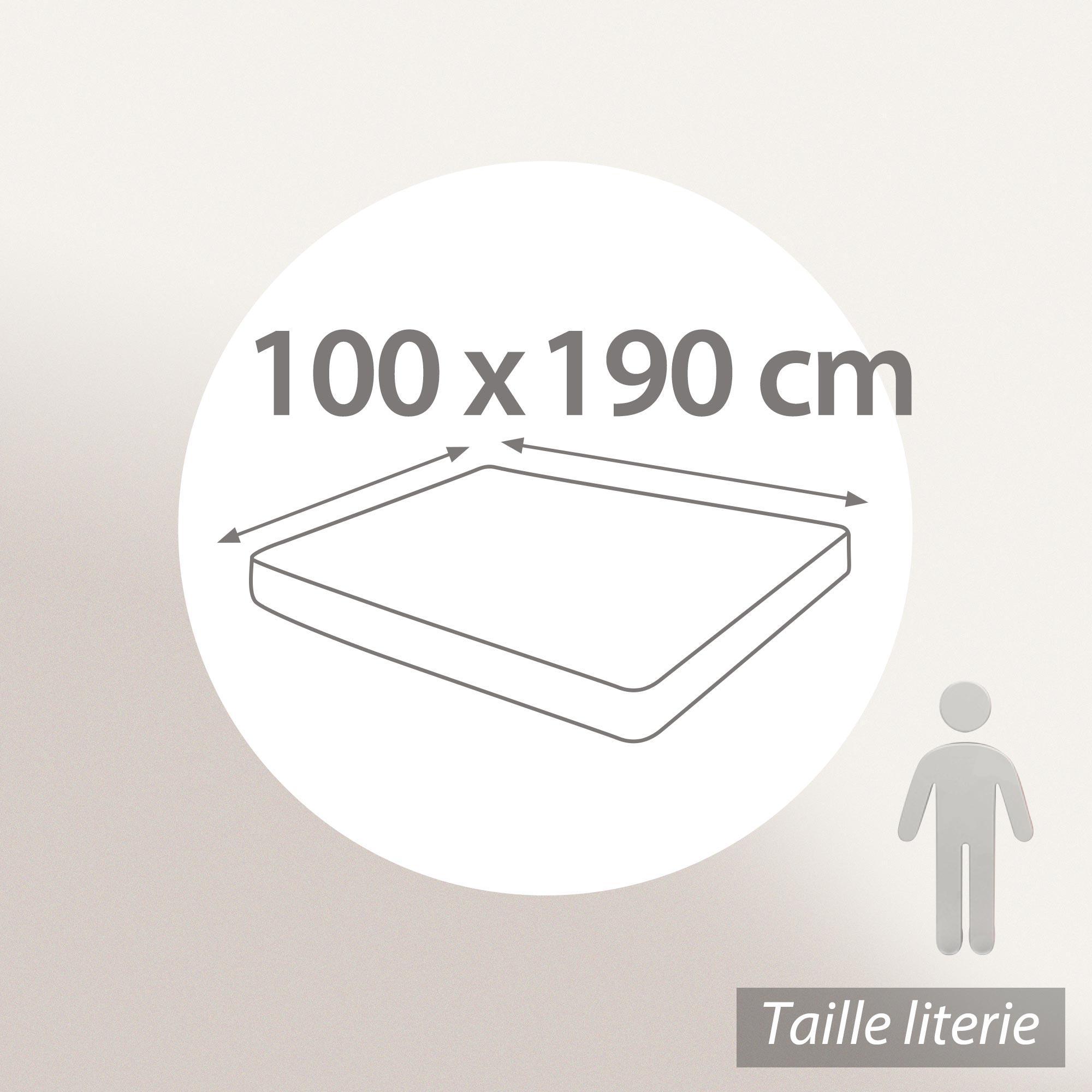prot ge matelas 100x190 cm achua molleton 100 coton 400 g m2 bonnet 30cm linnea linge de. Black Bedroom Furniture Sets. Home Design Ideas