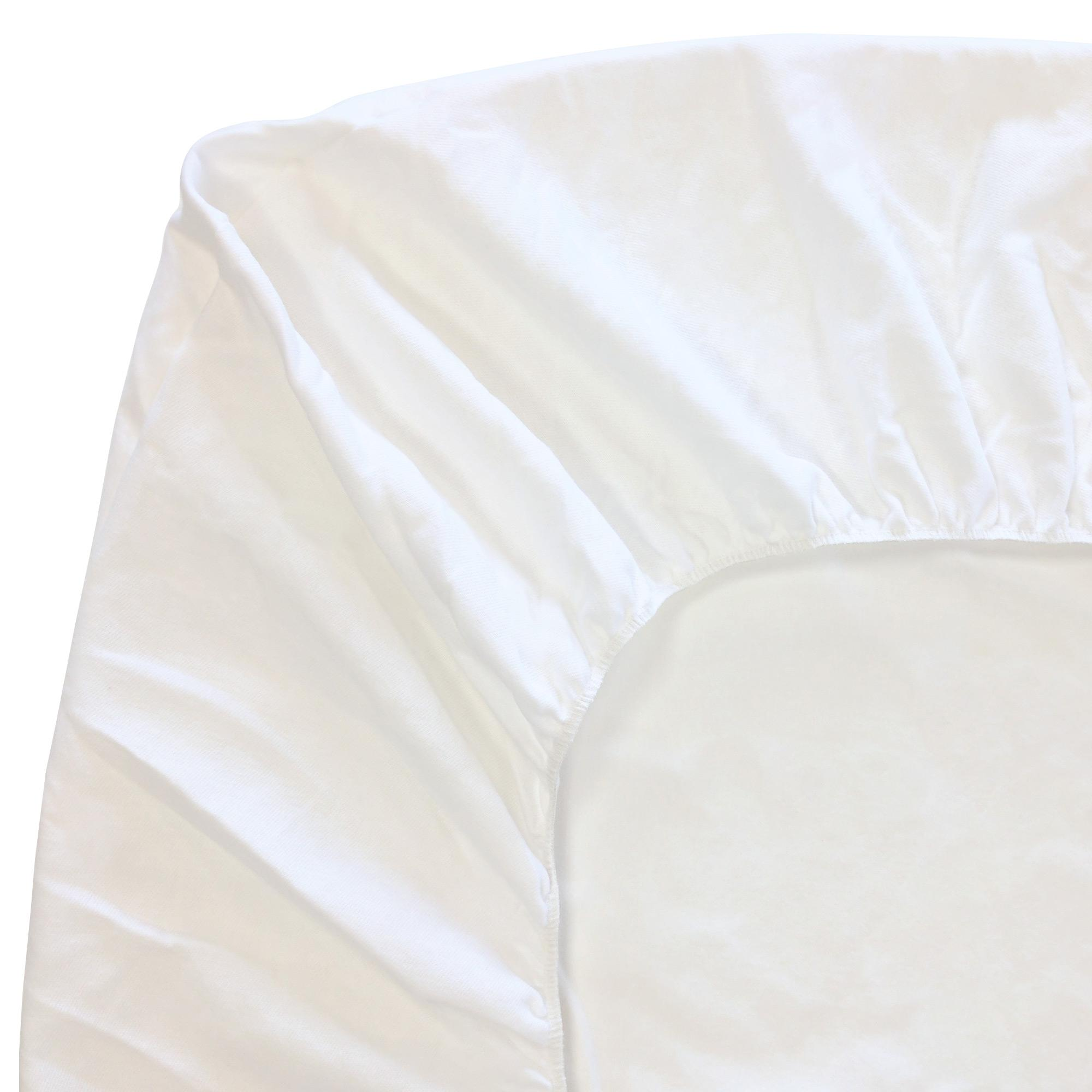 Protège matelas 120x190 cm ACHUA   Molleton 100% coton 400 g/m2