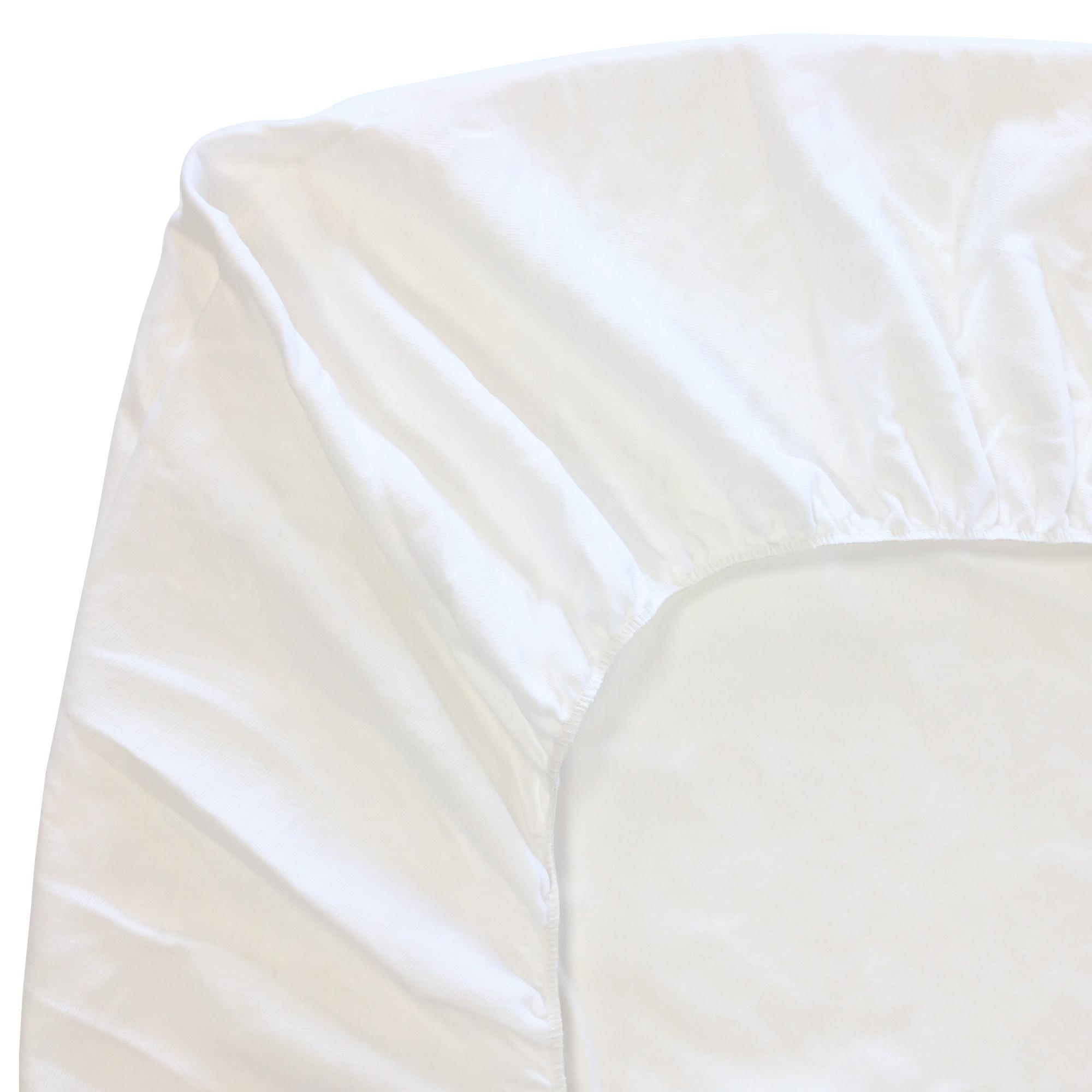 Protège Matelas 140x200 Cm ACHUA   Molleton 100% Coton 400 G/m2, Bonnet 40cm