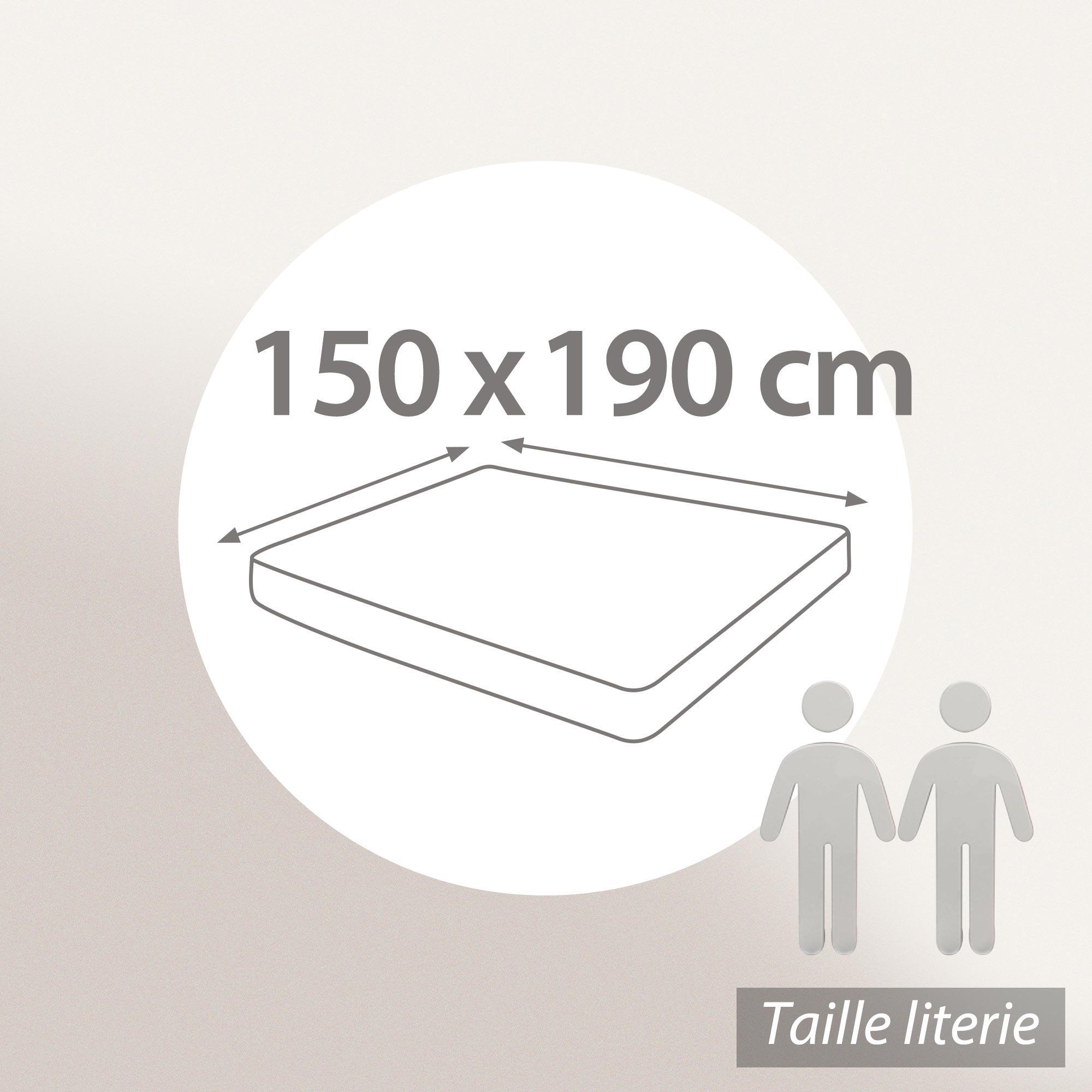 prot ge matelas 150x190 cm achua molleton 100 coton 400 g m2 bonnet 40cm linnea linge de. Black Bedroom Furniture Sets. Home Design Ideas