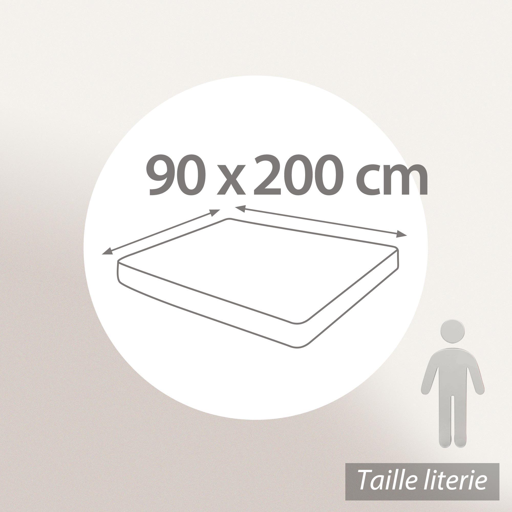 prot ge matelas 90x200 cm achua molleton 100 coton 400 g m2 bonnet 30cm linnea vente de. Black Bedroom Furniture Sets. Home Design Ideas