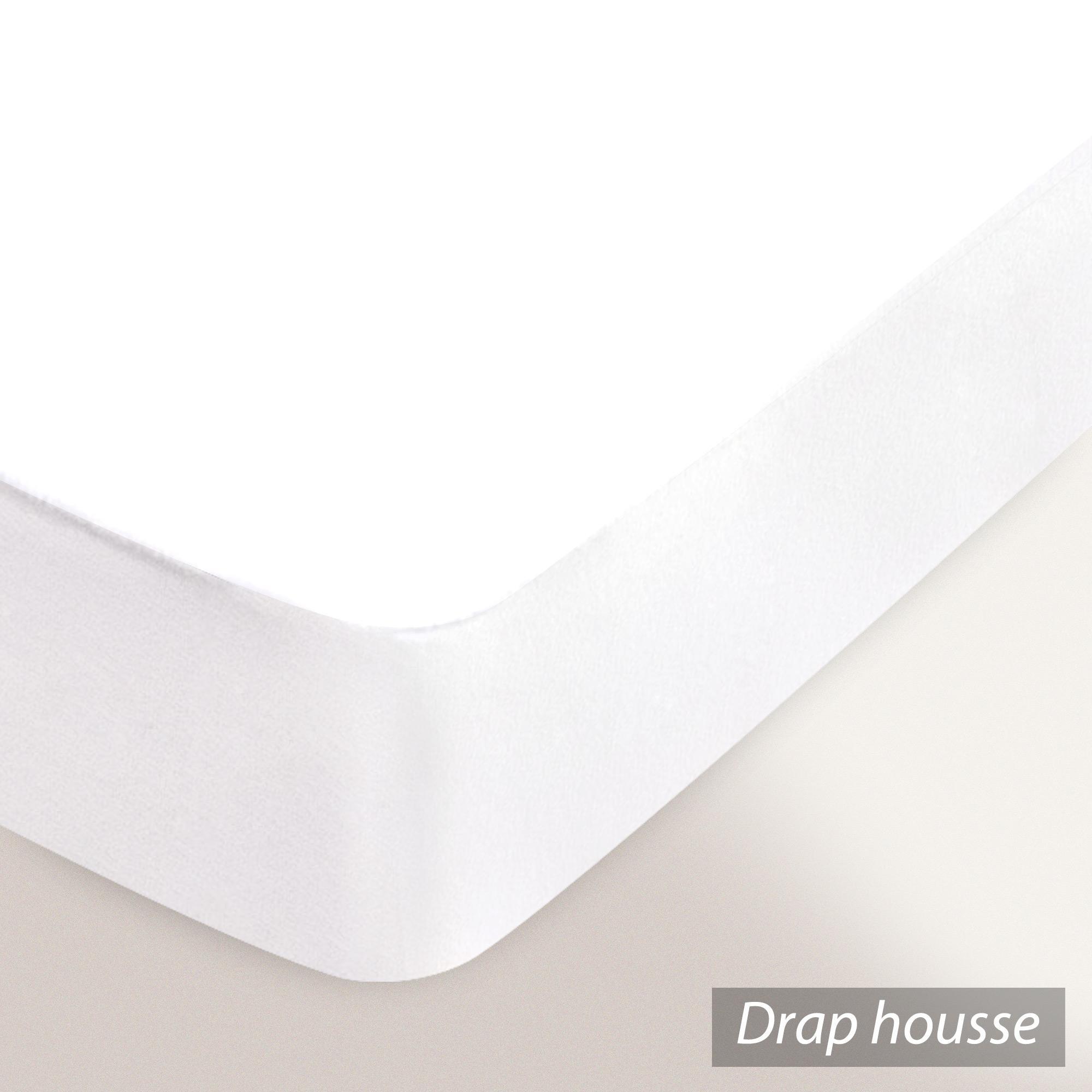 Protège matelas 90x200 cm ACHUA   Molleton 100% coton 400 g/m2