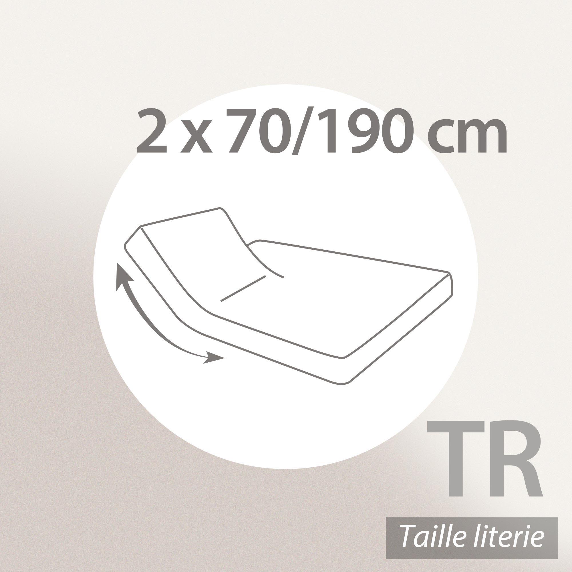 prot ge matelas imperm able 2x70x190 cm lit articul tr bonnet 30cm arnon molleton 100 coton. Black Bedroom Furniture Sets. Home Design Ideas