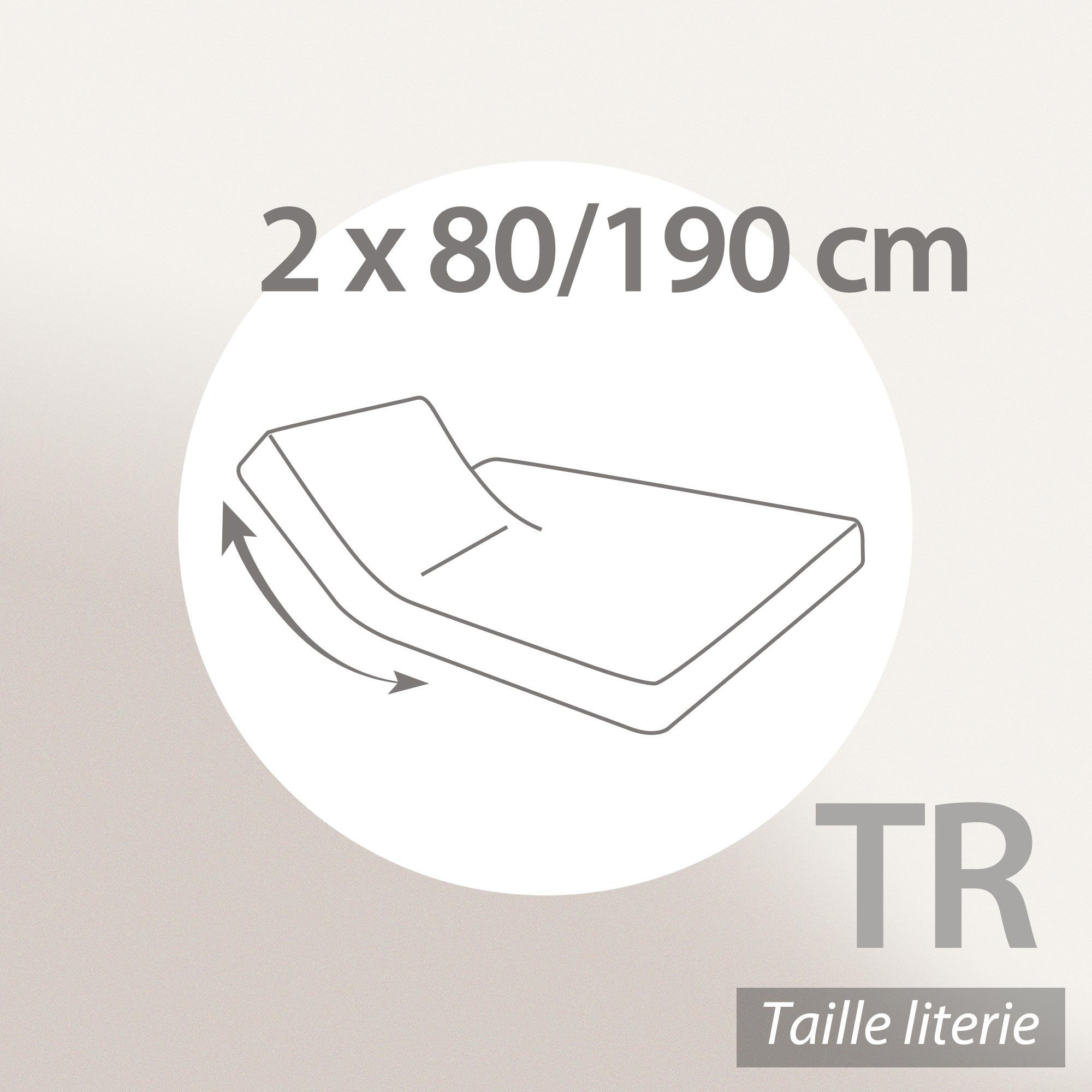 prot ge matelas imperm able 2x80x190 cm lit articul tr bonnet 30cm arnon molleton 100 coton. Black Bedroom Furniture Sets. Home Design Ideas