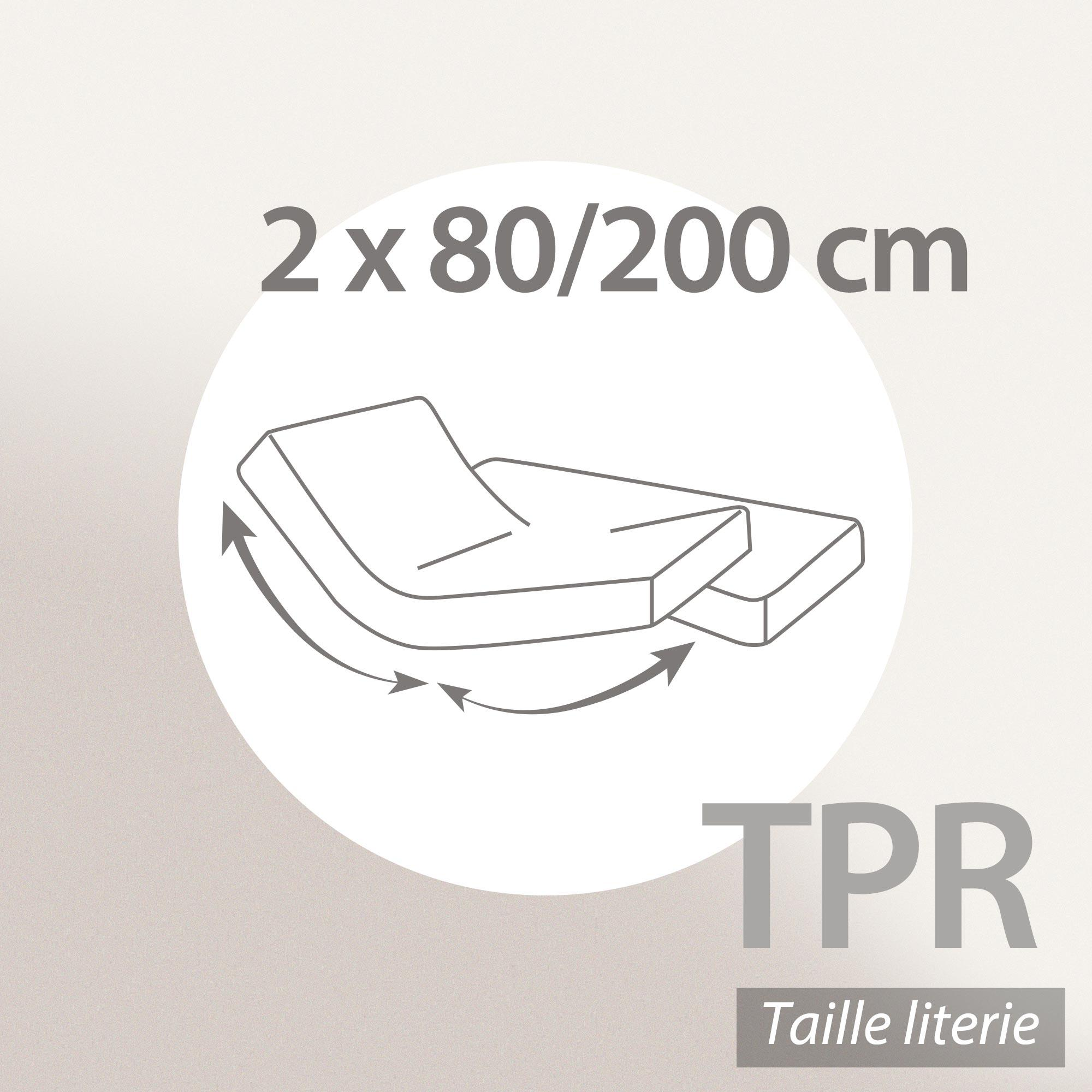 prot ge matelas imperm able 2x80x200 cm lit articul tpr bonnet 23cm arnon molleton 100 coton. Black Bedroom Furniture Sets. Home Design Ideas