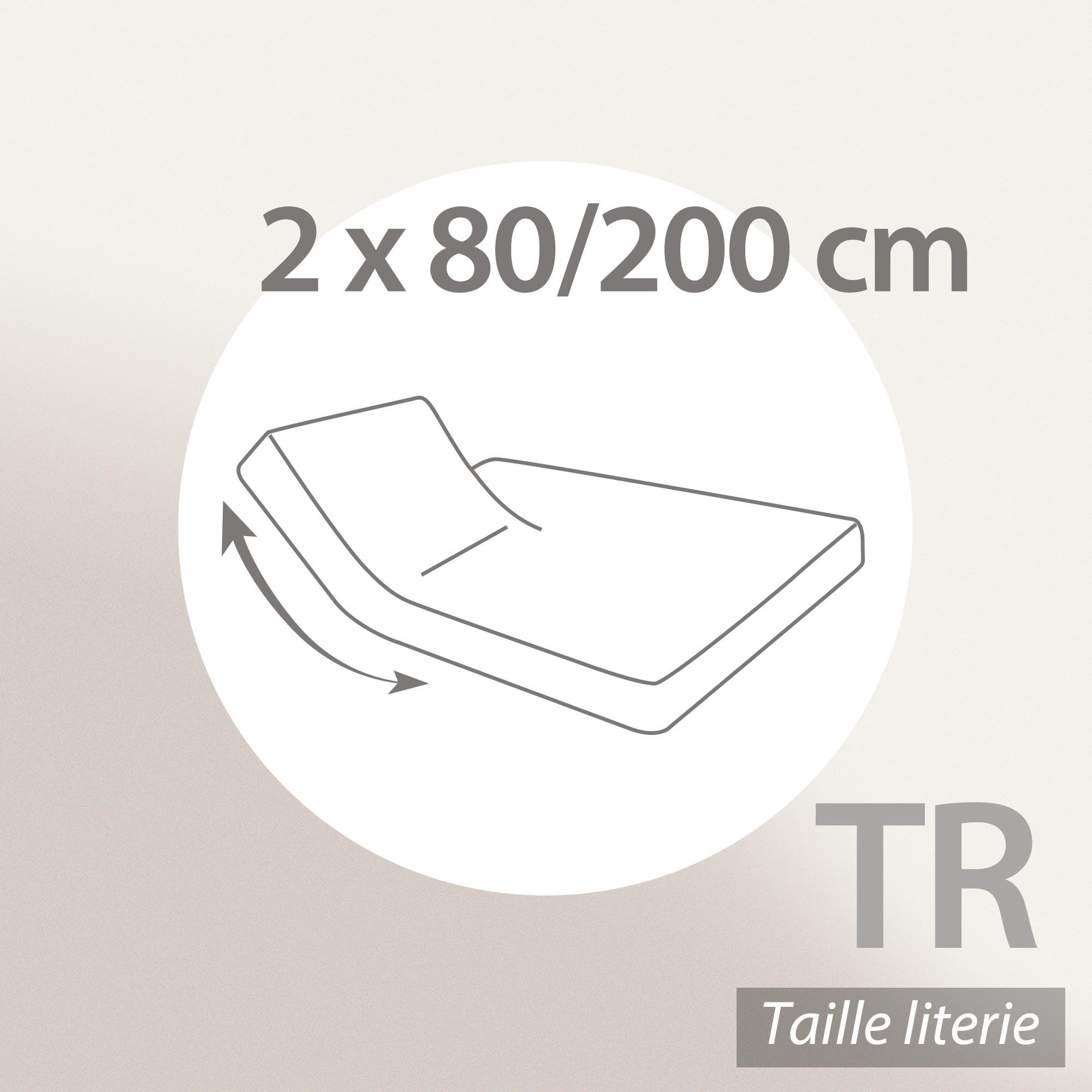 prot ge matelas imperm able 2x80x200 cm lit articul tr bonnet 23cm arnon molleton 100 coton. Black Bedroom Furniture Sets. Home Design Ideas