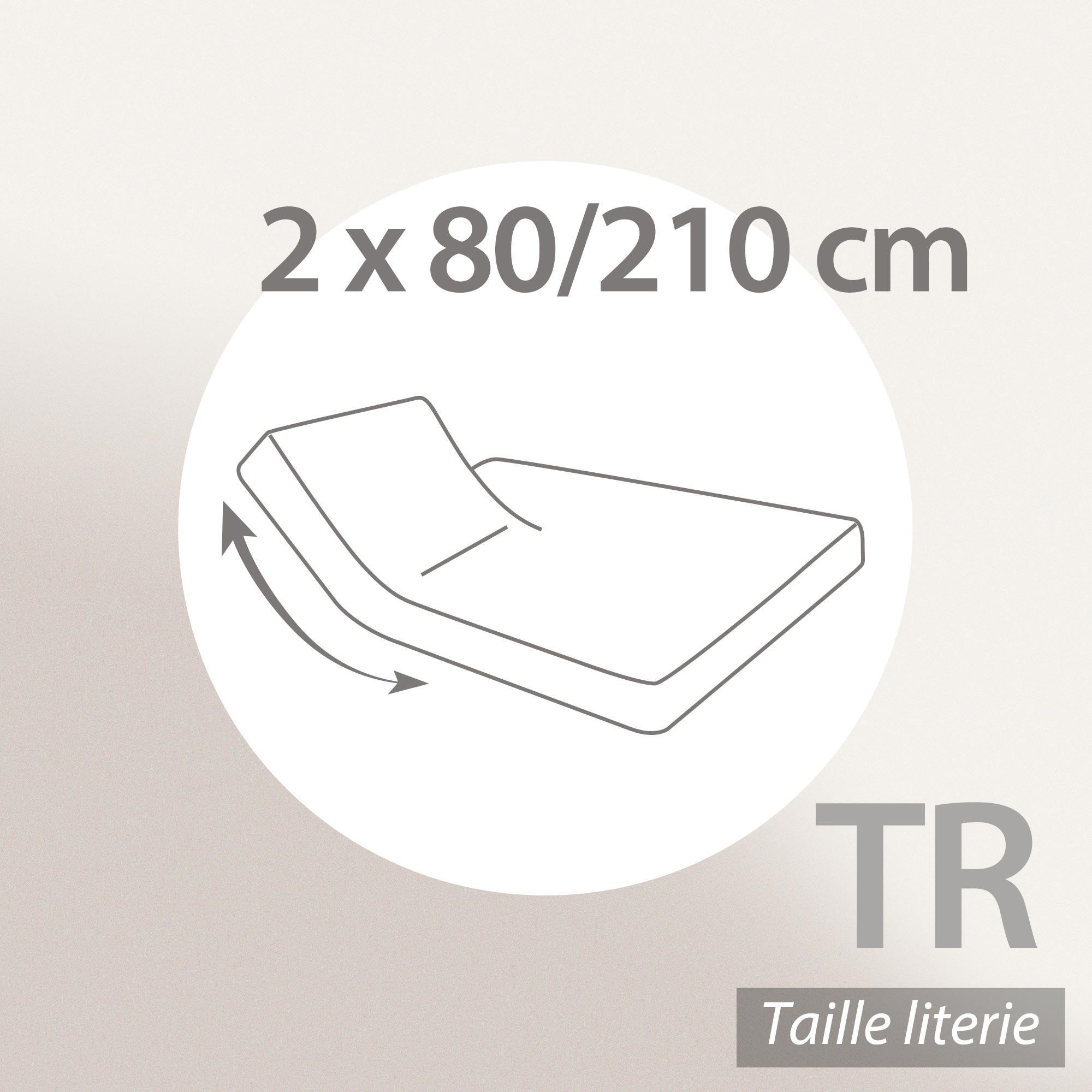 protège matelas imperméable 2x80x210 cm lit articulé tr bonnet 30cm