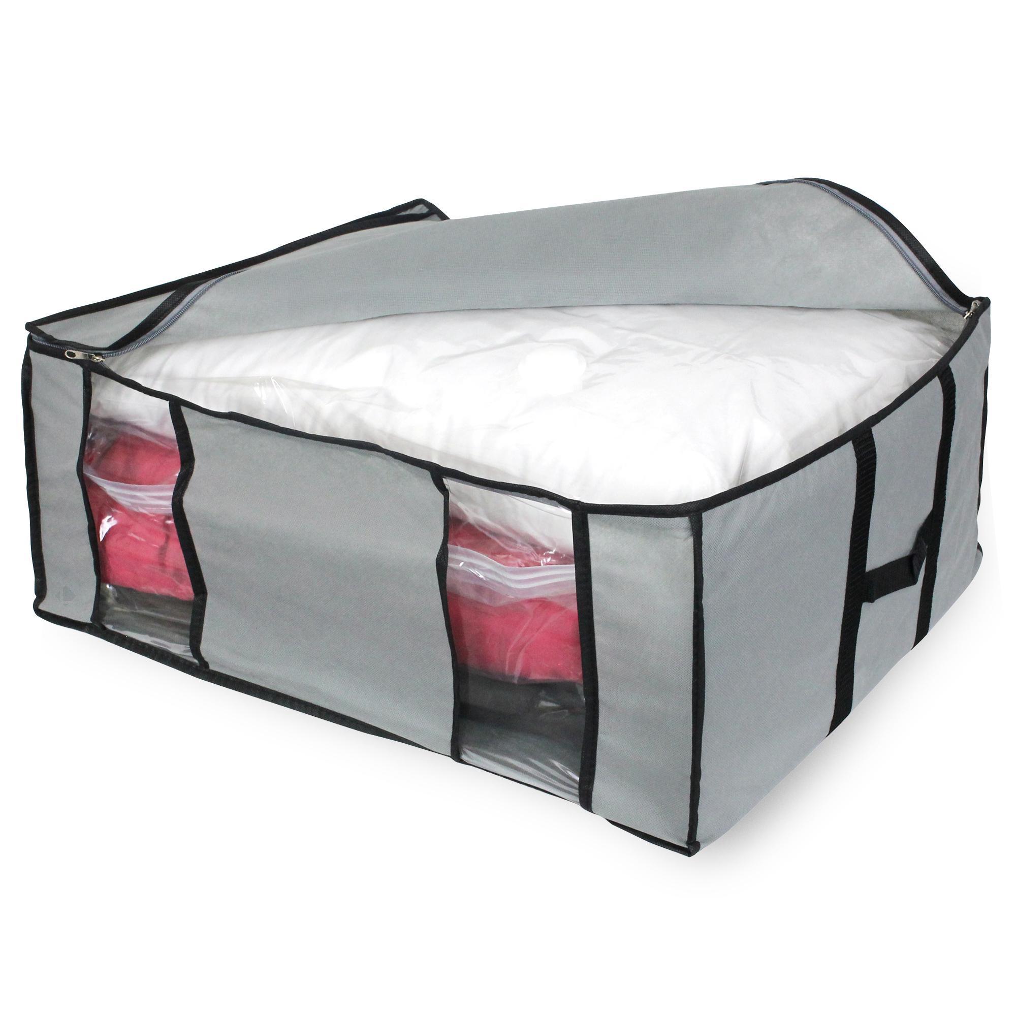 housse de rangement en toile et housse vide d 39 air 210l gris linnea linge de maison et. Black Bedroom Furniture Sets. Home Design Ideas