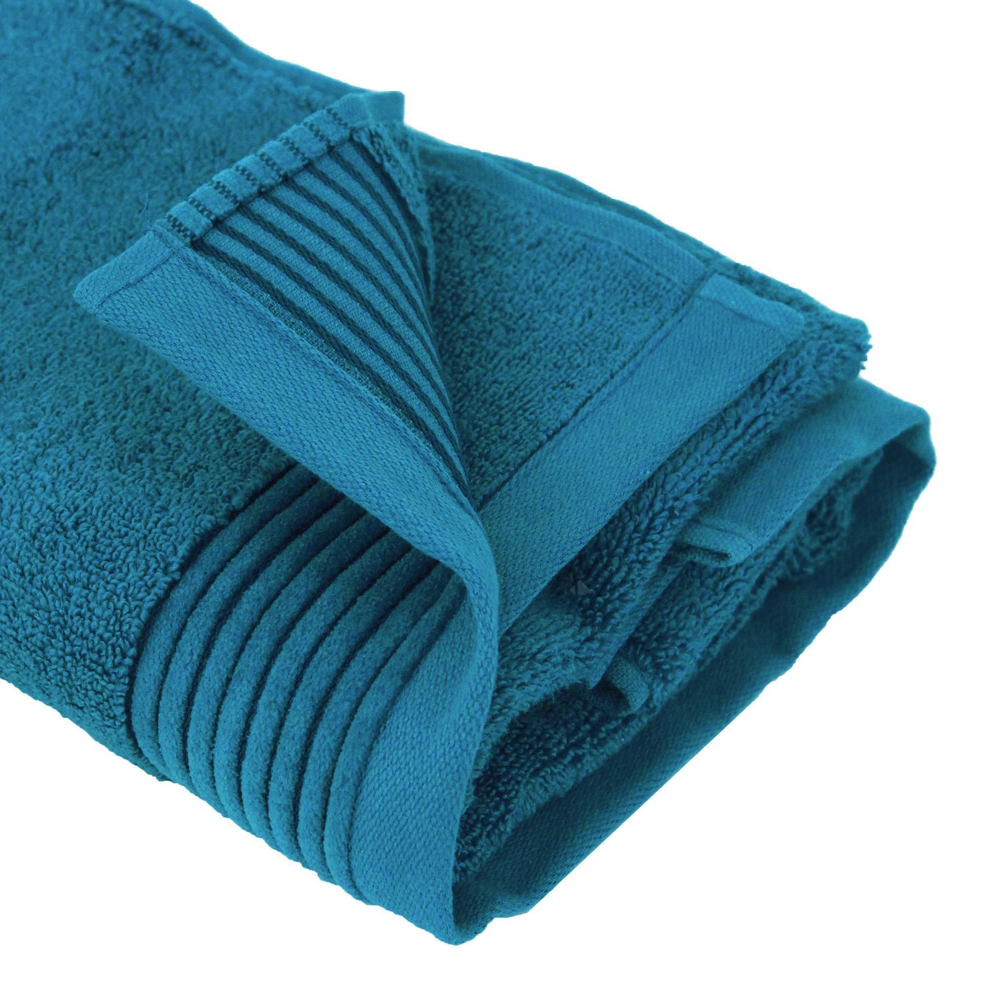Serviette de toilette 50x100 cm juliet bleu baltic 520 g - Analyse de pratique toilette au lit ...