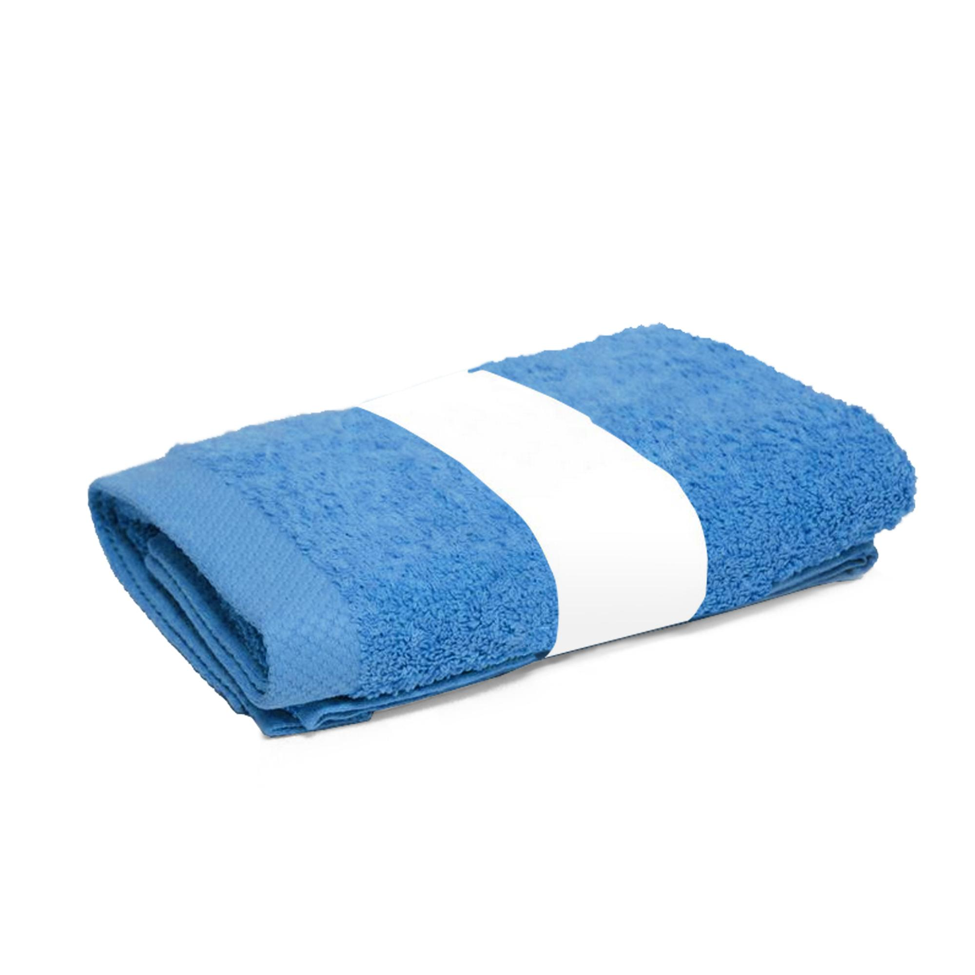 serviette de toilette 50x100cm coton uni pure bleu turquoise linnea linge de maison et. Black Bedroom Furniture Sets. Home Design Ideas