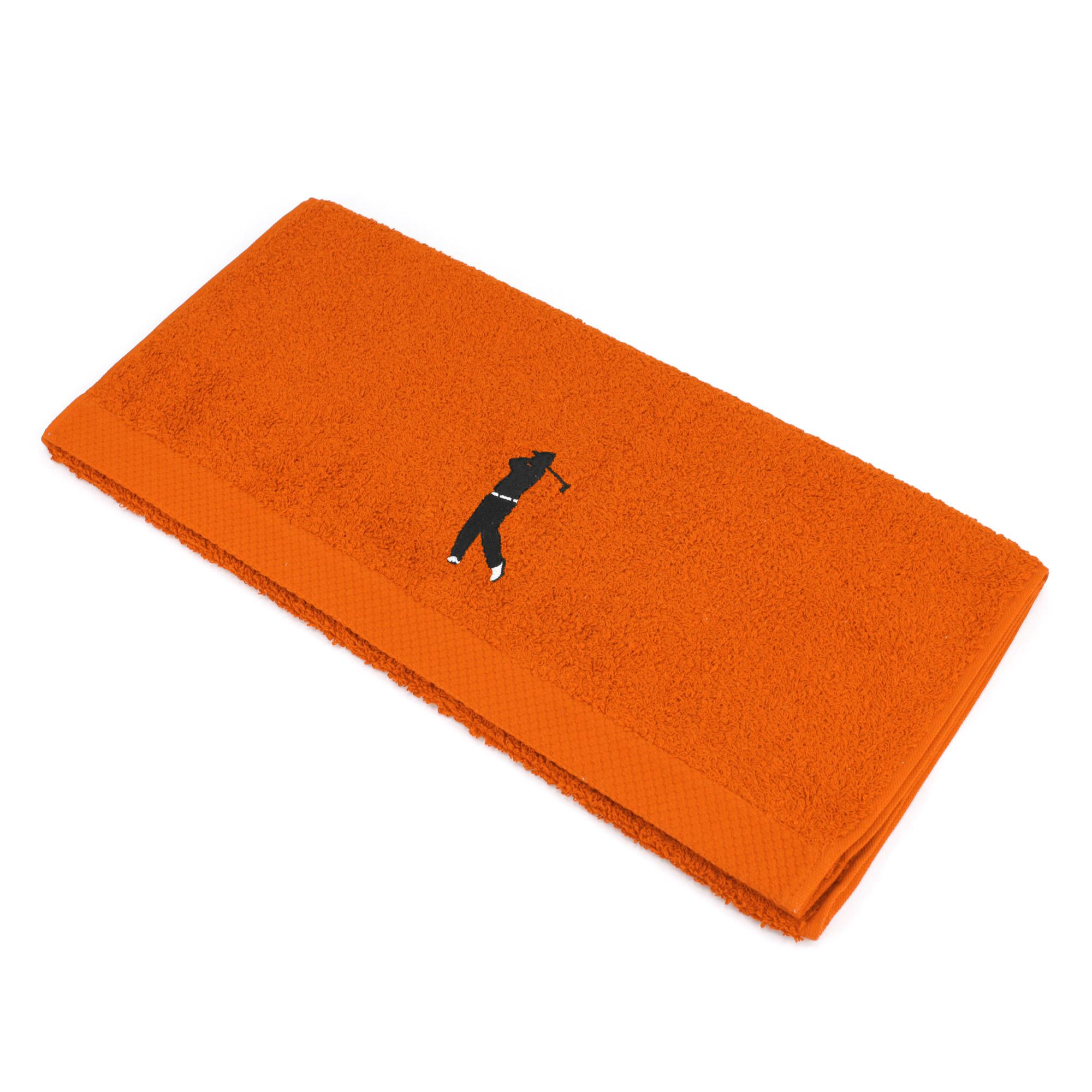 serviette de toilette 50x100 cm coton pure golf orange butane linnea linge de maison et. Black Bedroom Furniture Sets. Home Design Ideas
