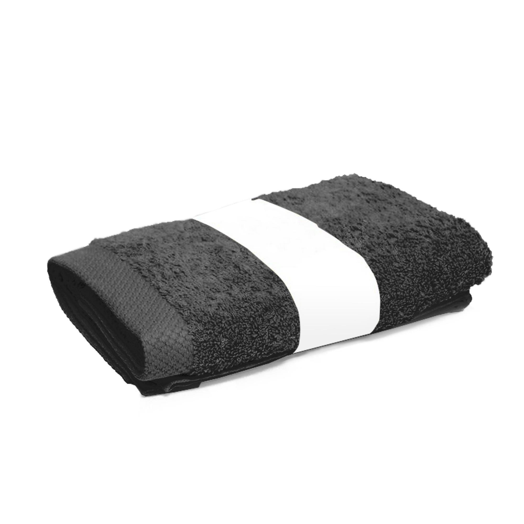 serviette de toilette 50x100cm coton uni pure gris anthracite linnea vente de linge de maison. Black Bedroom Furniture Sets. Home Design Ideas