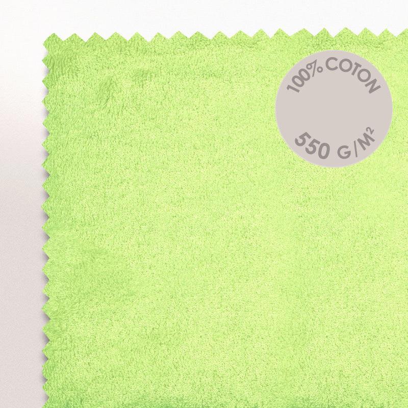 Serviette De Toilette 50X100Cm Coton Uni Pure Vert Pomme   Linnea