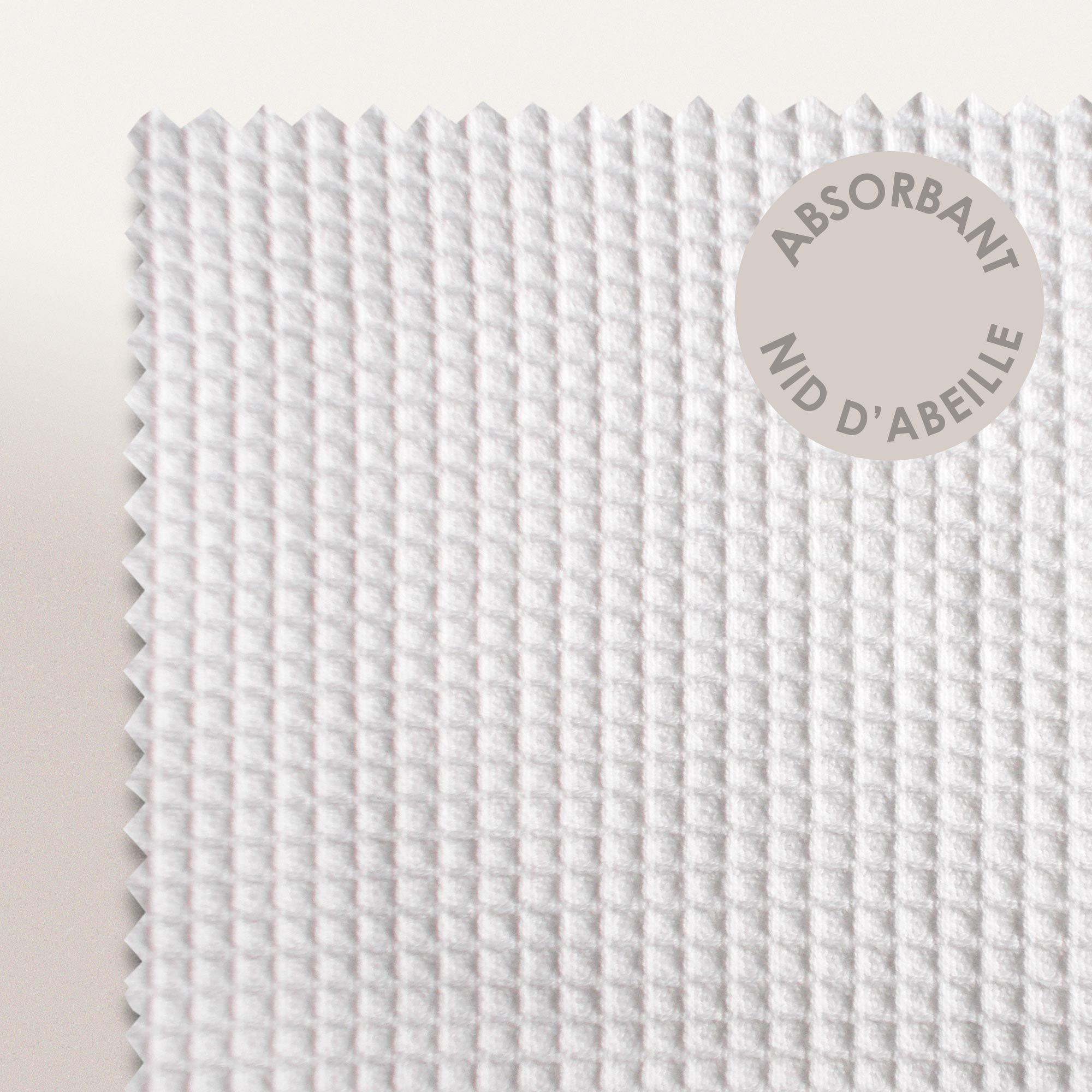 Serviette de toilette 50x100cm uni coton pure waffle blanc linnea vente de - Serviette de bain carre blanc ...