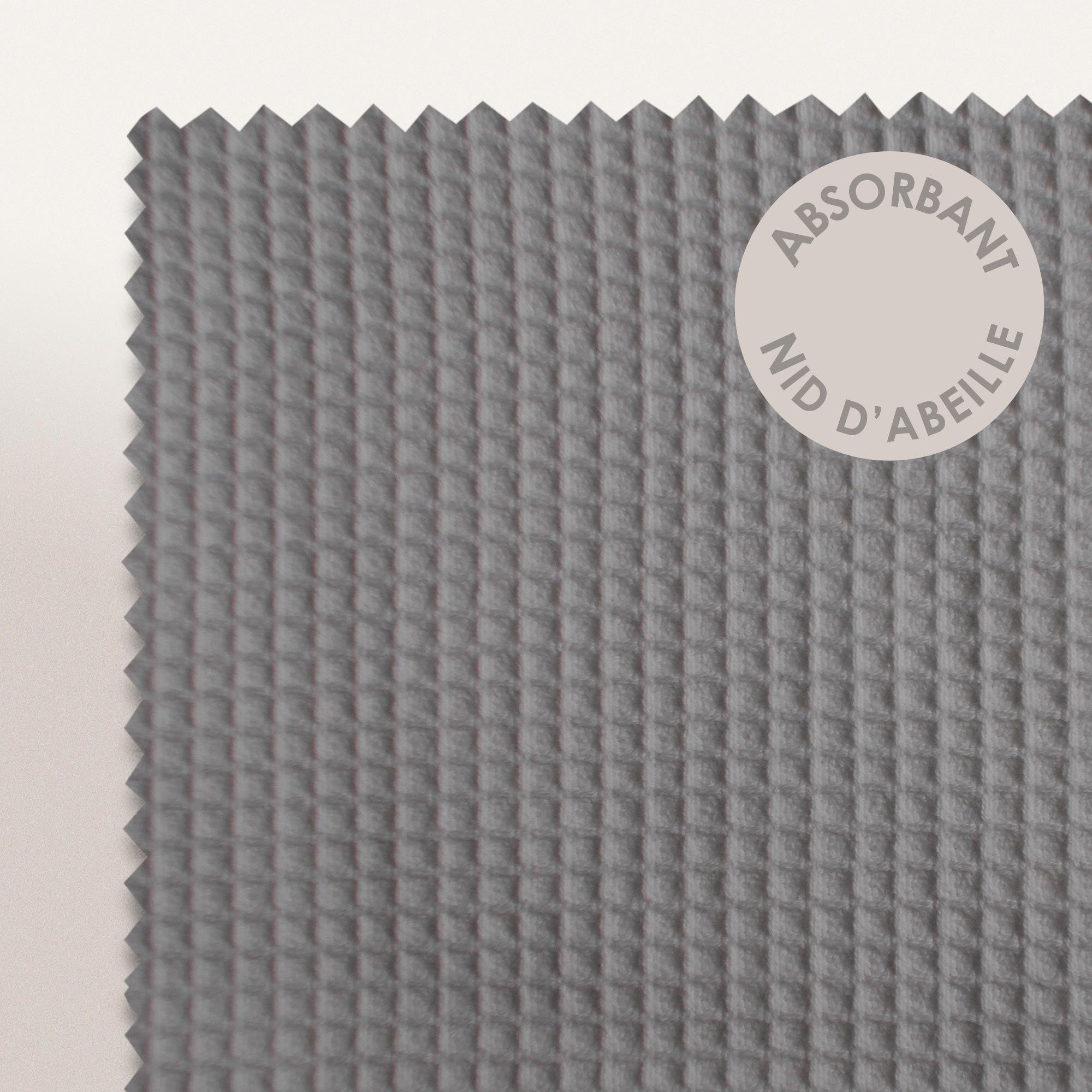 serviette de toilette 50x100cm uni coton pure waffle gris. Black Bedroom Furniture Sets. Home Design Ideas