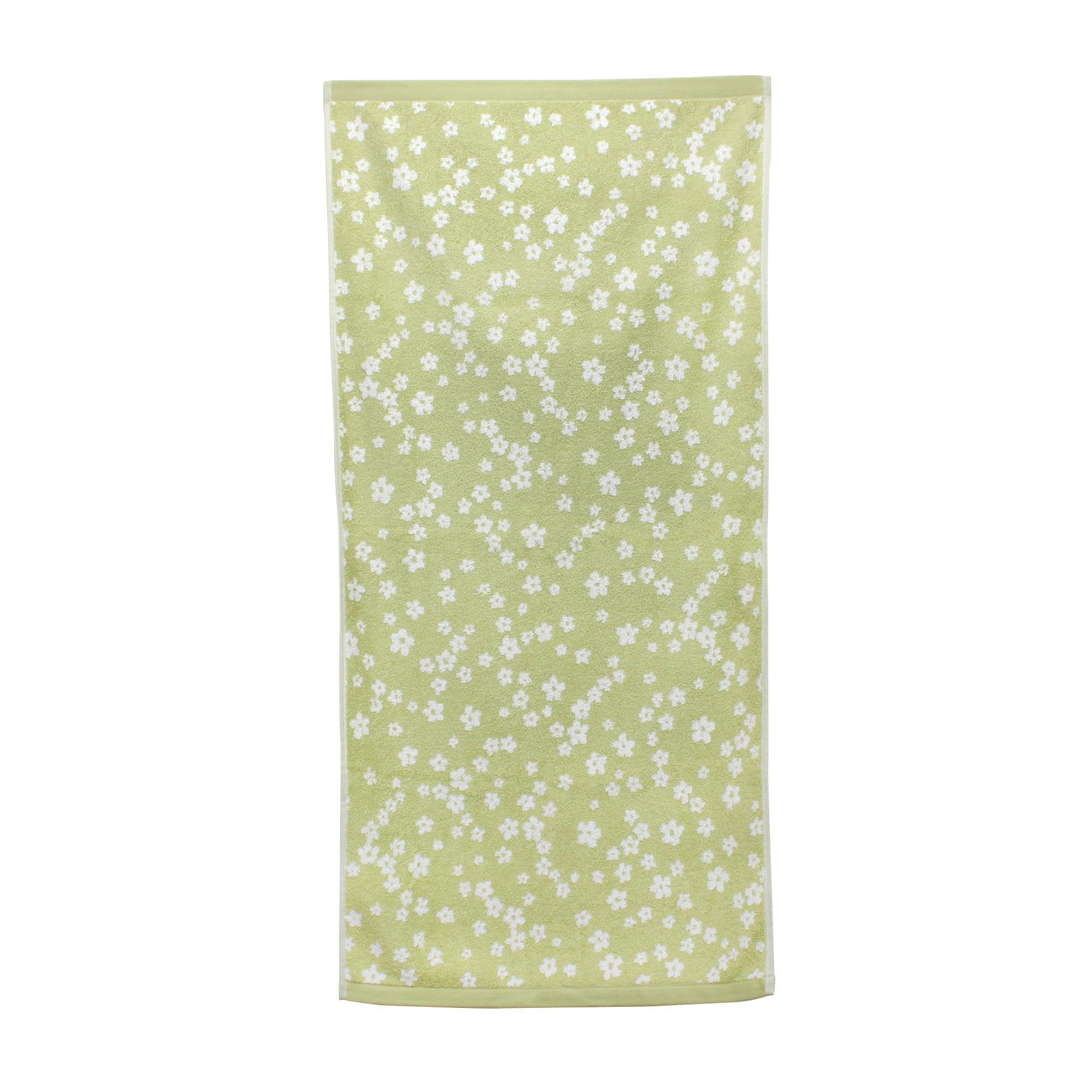 Serviette-de-toilette-50x100-100-coton-520g-m2-FACILE-Vert