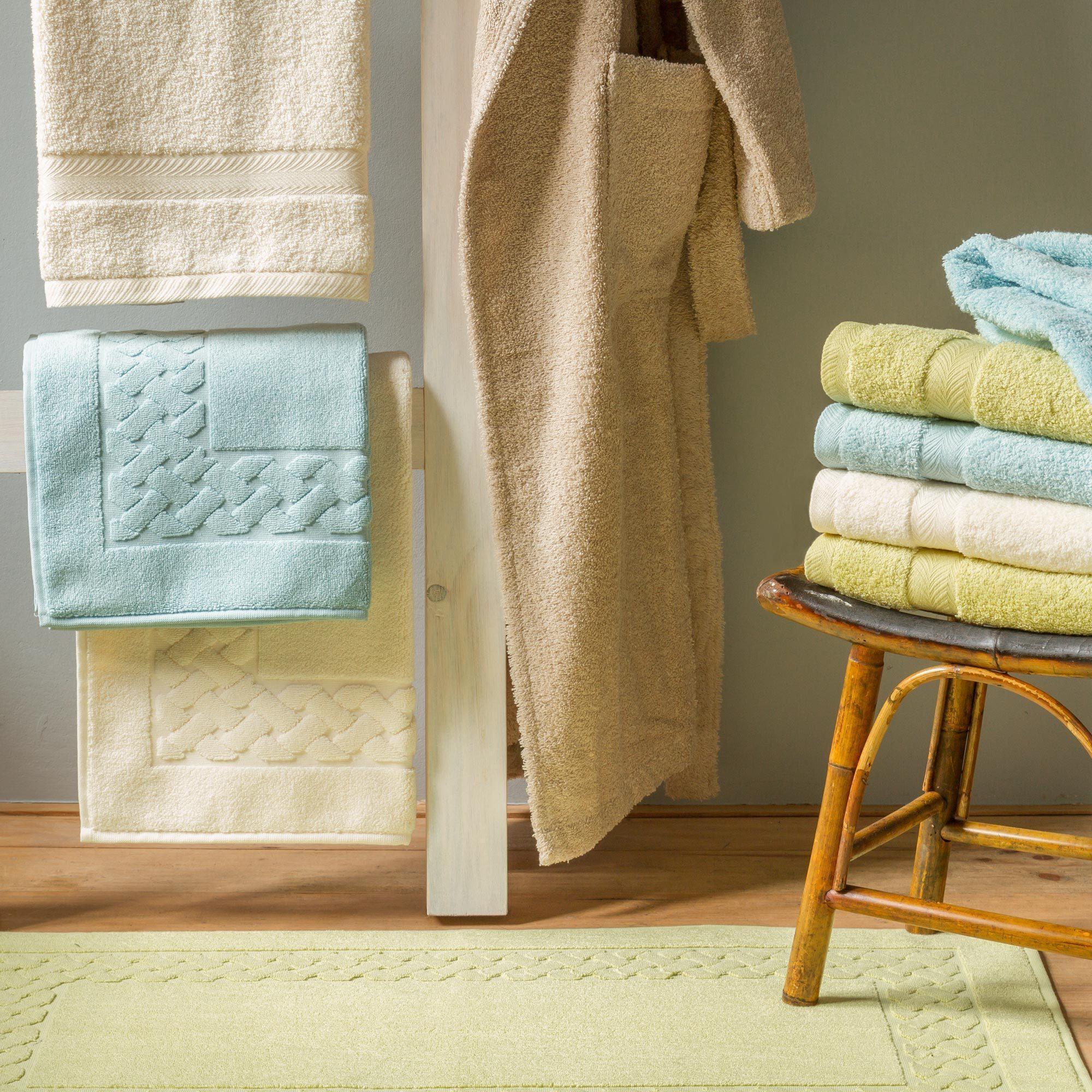 serviette de toilette 50x100 coton uni royal cresent blanc linnea linge de maison et. Black Bedroom Furniture Sets. Home Design Ideas