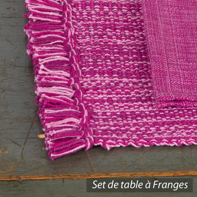 Set de table cocina 45x33 cm avec serviette assortie for Set de table rose