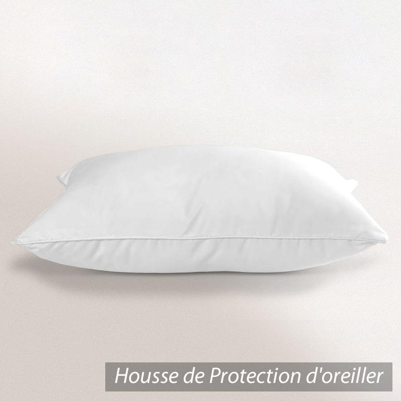 Housse de protection oreiller 80x80 cm antonin molleton for Housse anti acariens