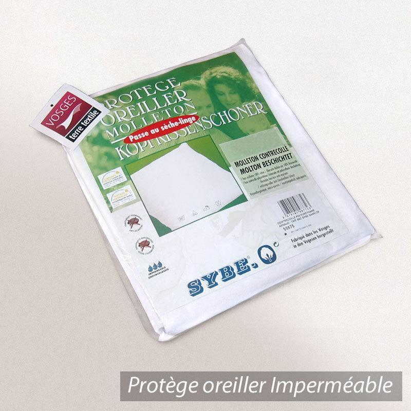housse de protection oreiller imperm able 80x80 cm arnaud molleton contrecoll polyur thane. Black Bedroom Furniture Sets. Home Design Ideas