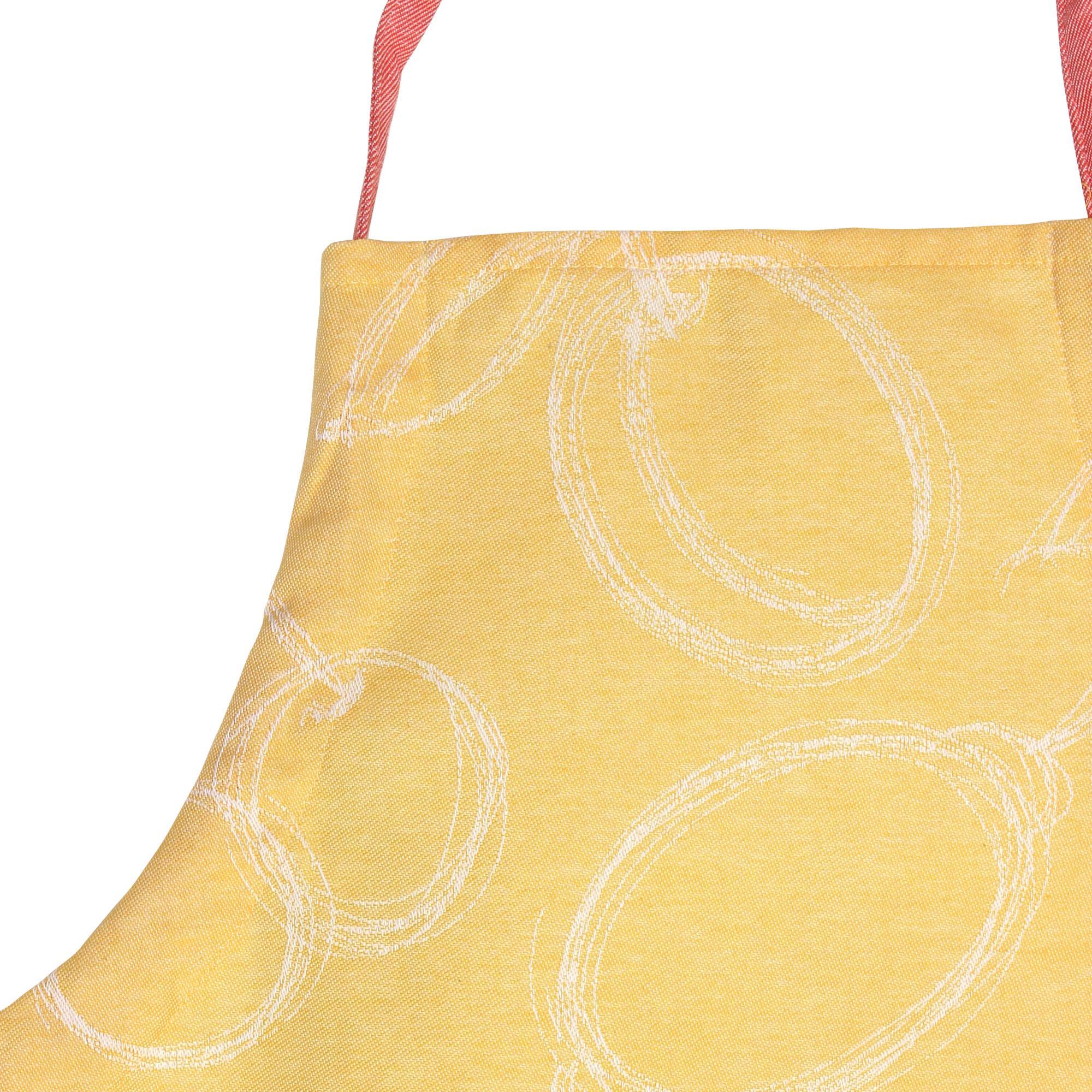 Tablier de cuisine 60x90 cm line apron orange linnea - Tablier cuisine fantaisie ...