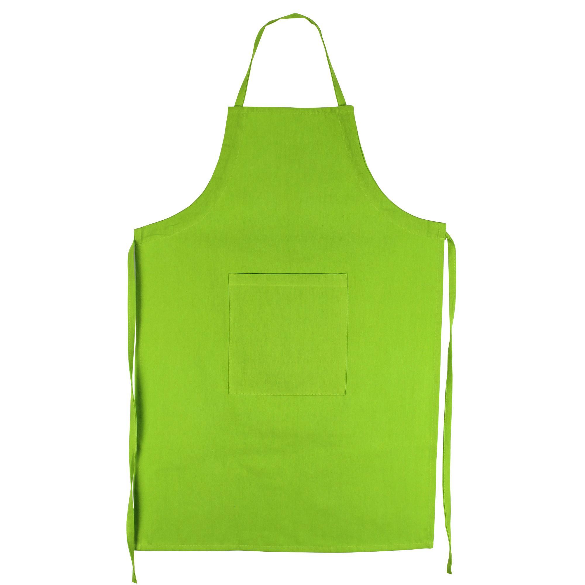 Tablier de cuisine 60x90 cm pure kitchen apron pistache for Tablier de cuisine uni