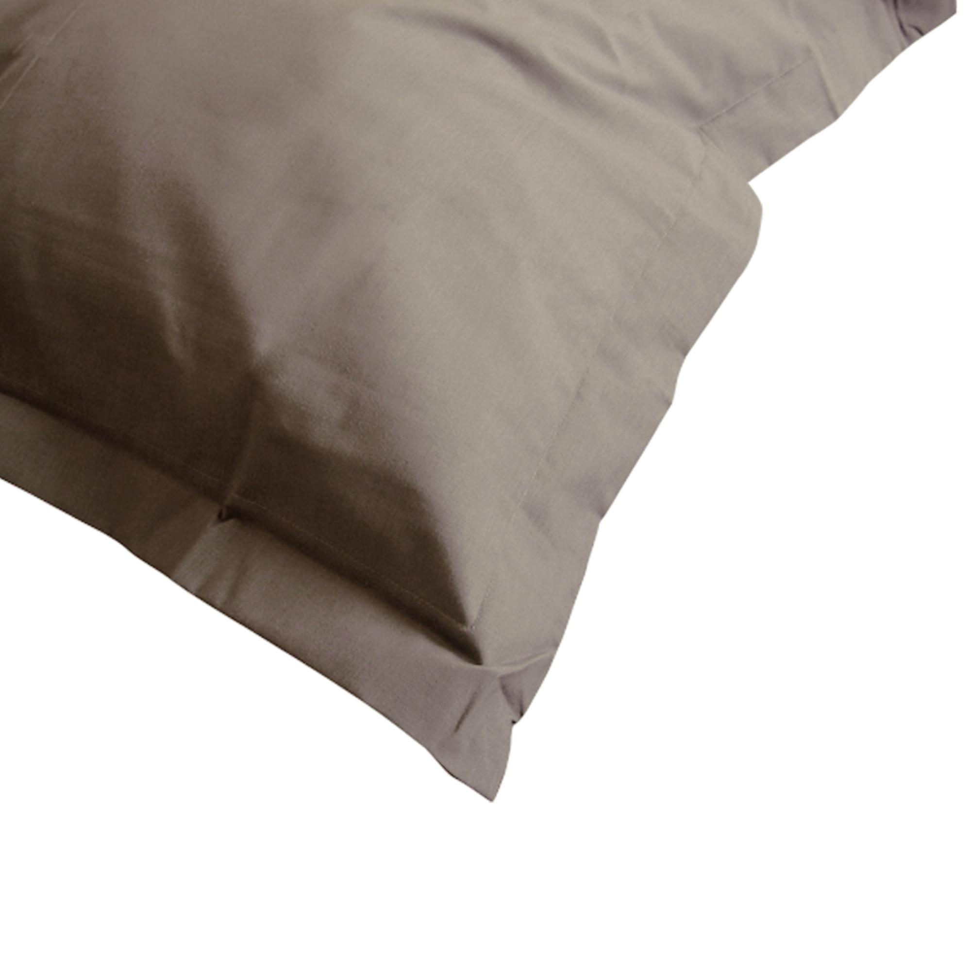 taie d 39 oreiller 100x80cm uni pur coton alto marron muscade linnea linge de maison et. Black Bedroom Furniture Sets. Home Design Ideas