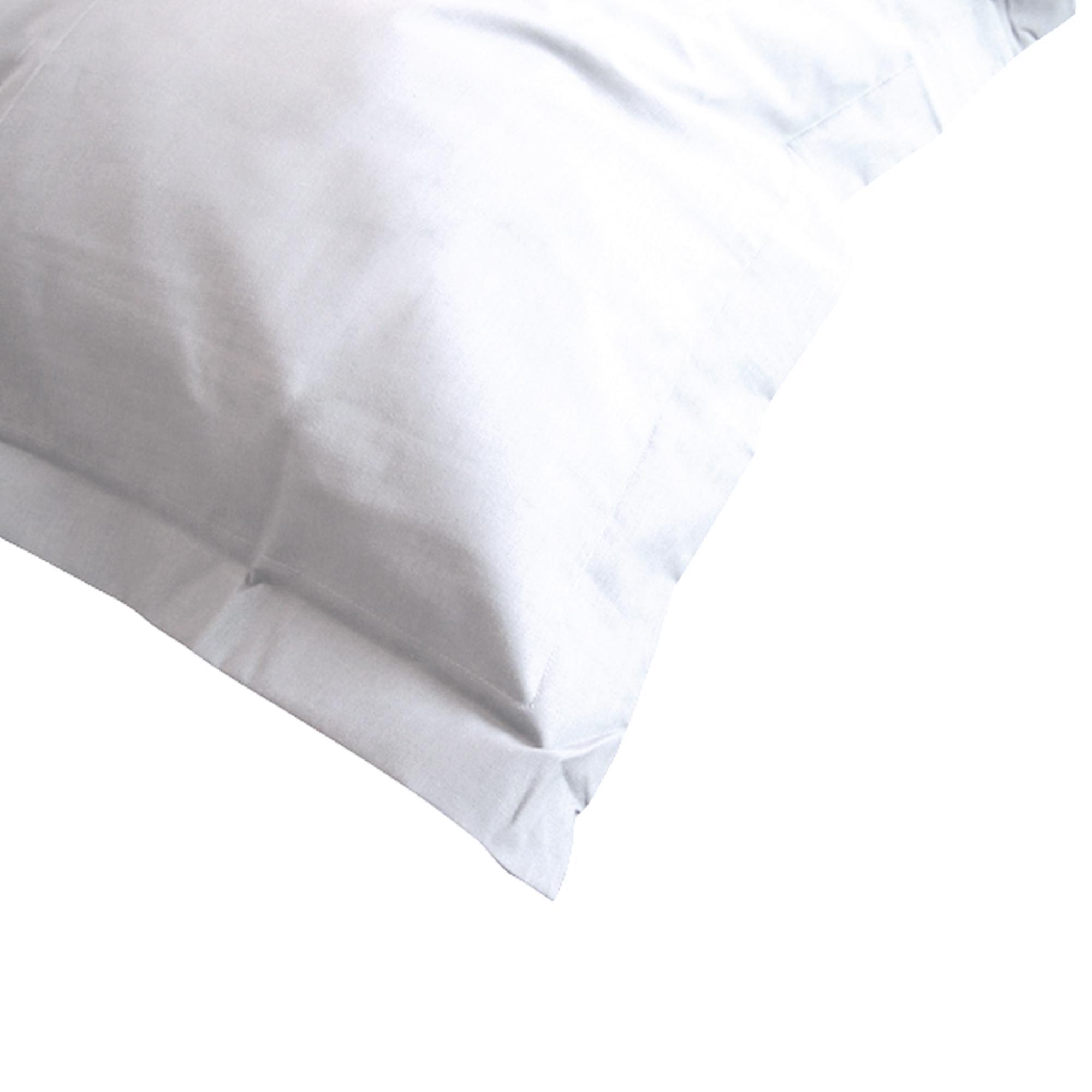 taie d 39 oreiller 60x40cm uni pur coton alto blanc linnea linge de maison et. Black Bedroom Furniture Sets. Home Design Ideas