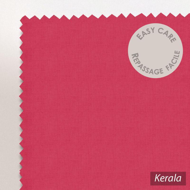 taie d 39 oreiller 60x40cm uni pur coton alto rose kerala linnea linge de maison et. Black Bedroom Furniture Sets. Home Design Ideas