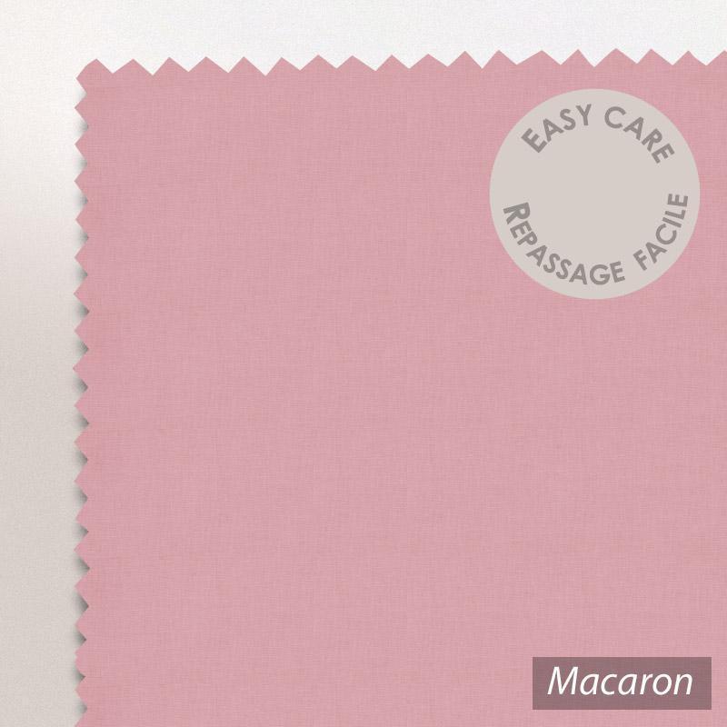 taie d 39 oreiller 60x40cm uni pur coton alto rose macaron linnea linge de maison et. Black Bedroom Furniture Sets. Home Design Ideas