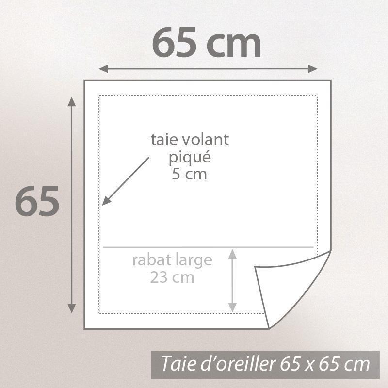 taie d 39 oreiller 65x65cm uni pur coton alto blanc linnea. Black Bedroom Furniture Sets. Home Design Ideas