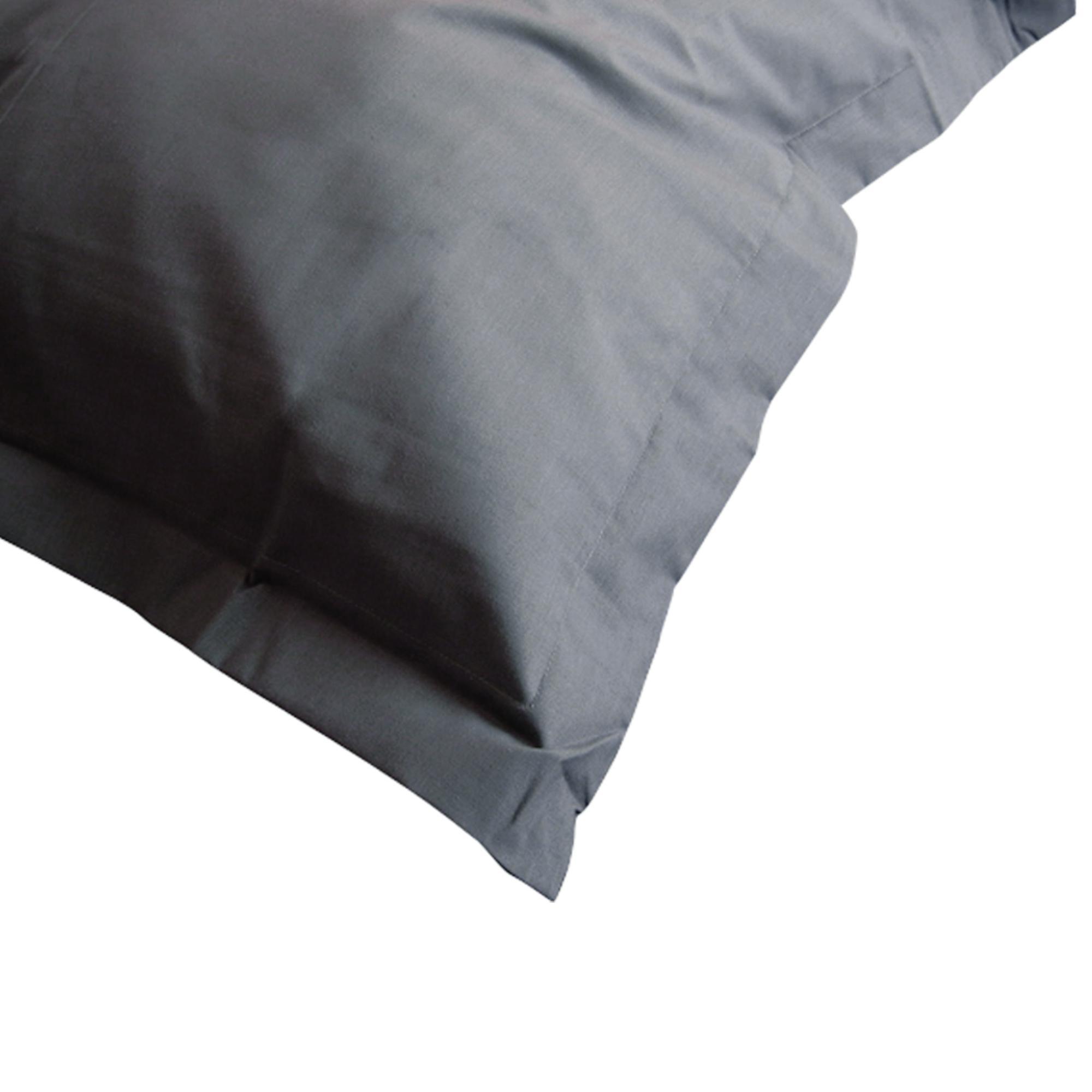 taie d 39 oreiller 70x50cm uni pur coton alto gris manhattan linnea linge de maison et. Black Bedroom Furniture Sets. Home Design Ideas