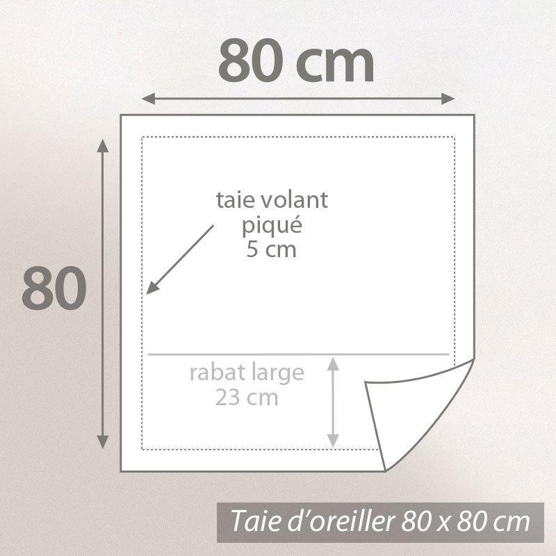 taie d 39 oreiller 80x80cm uni pur coton alto blanc linnea linge de maison et. Black Bedroom Furniture Sets. Home Design Ideas