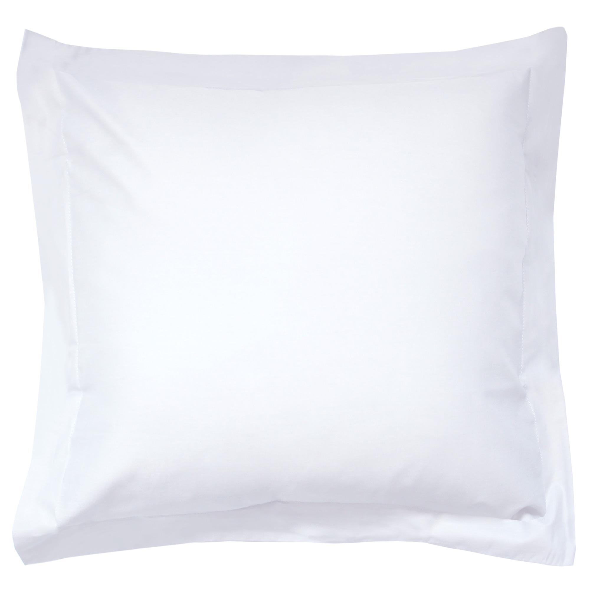 taie d 39 oreiller 80x80cm uni pur coton alto blanc linnea. Black Bedroom Furniture Sets. Home Design Ideas