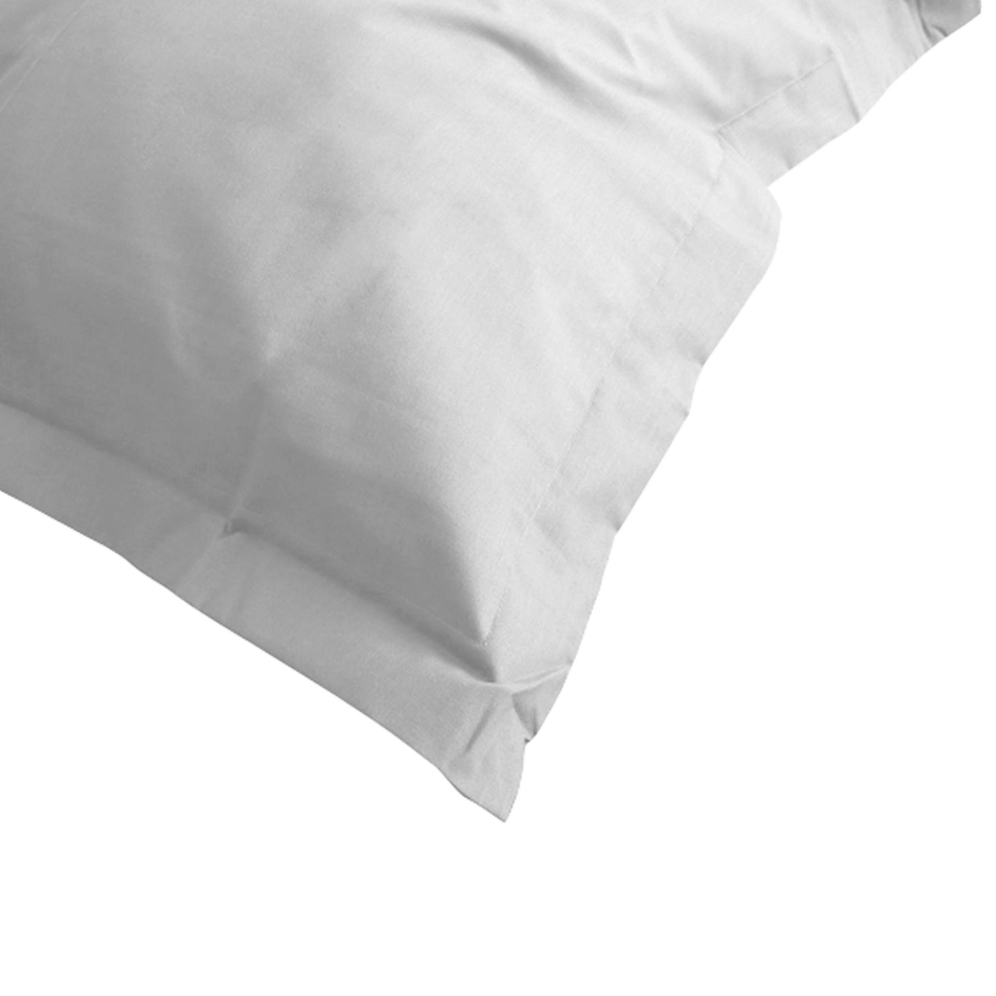 taie d 39 oreiller 80x80cm uni pur coton alto gris calcium linnea linge de maison et. Black Bedroom Furniture Sets. Home Design Ideas