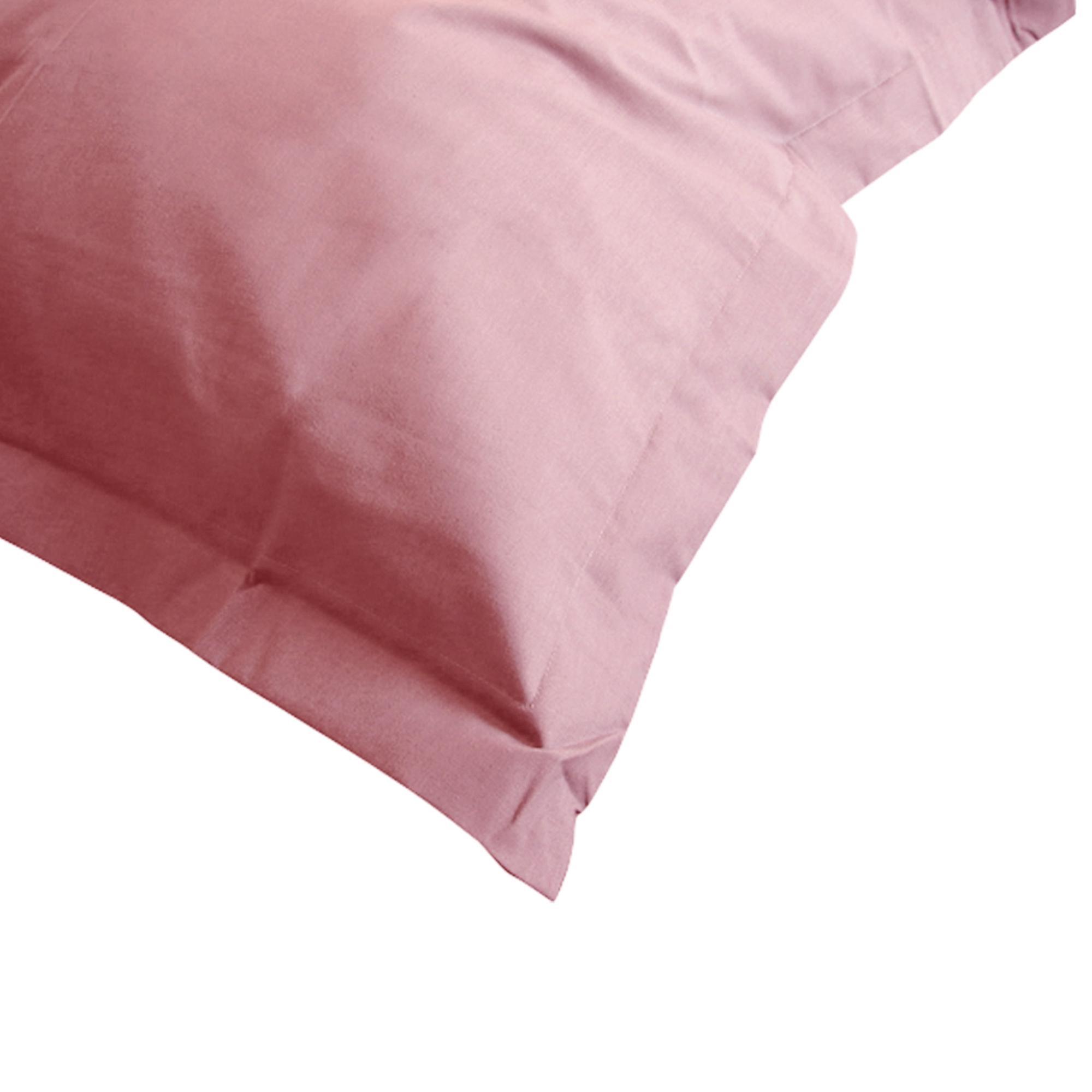 taie d 39 oreiller 80x80cm uni pur coton alto rose macaron linnea linge de maison et. Black Bedroom Furniture Sets. Home Design Ideas