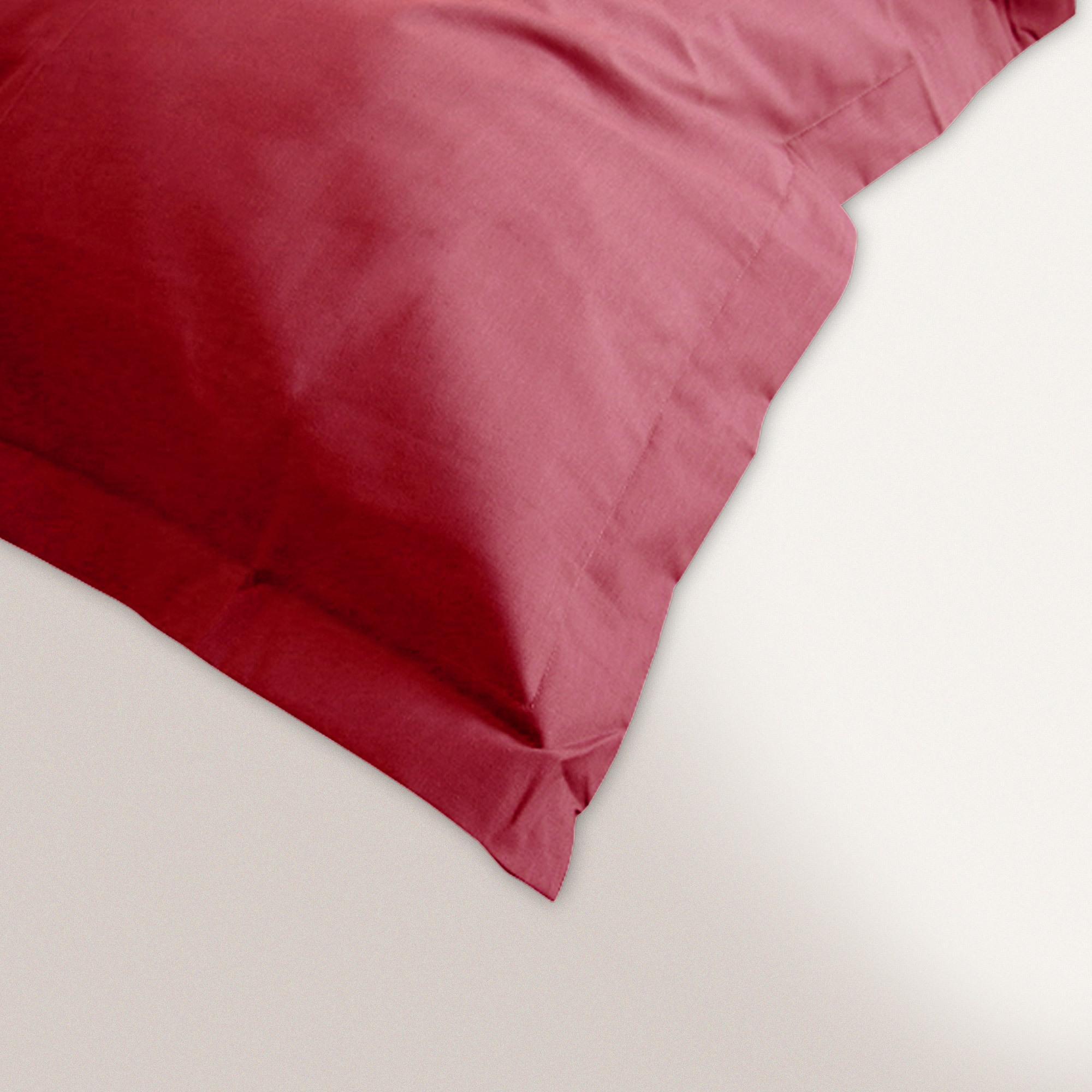 taie d 39 oreiller 80x80cm uni pur coton alto rouge garance linnea vente de linge de maison. Black Bedroom Furniture Sets. Home Design Ideas
