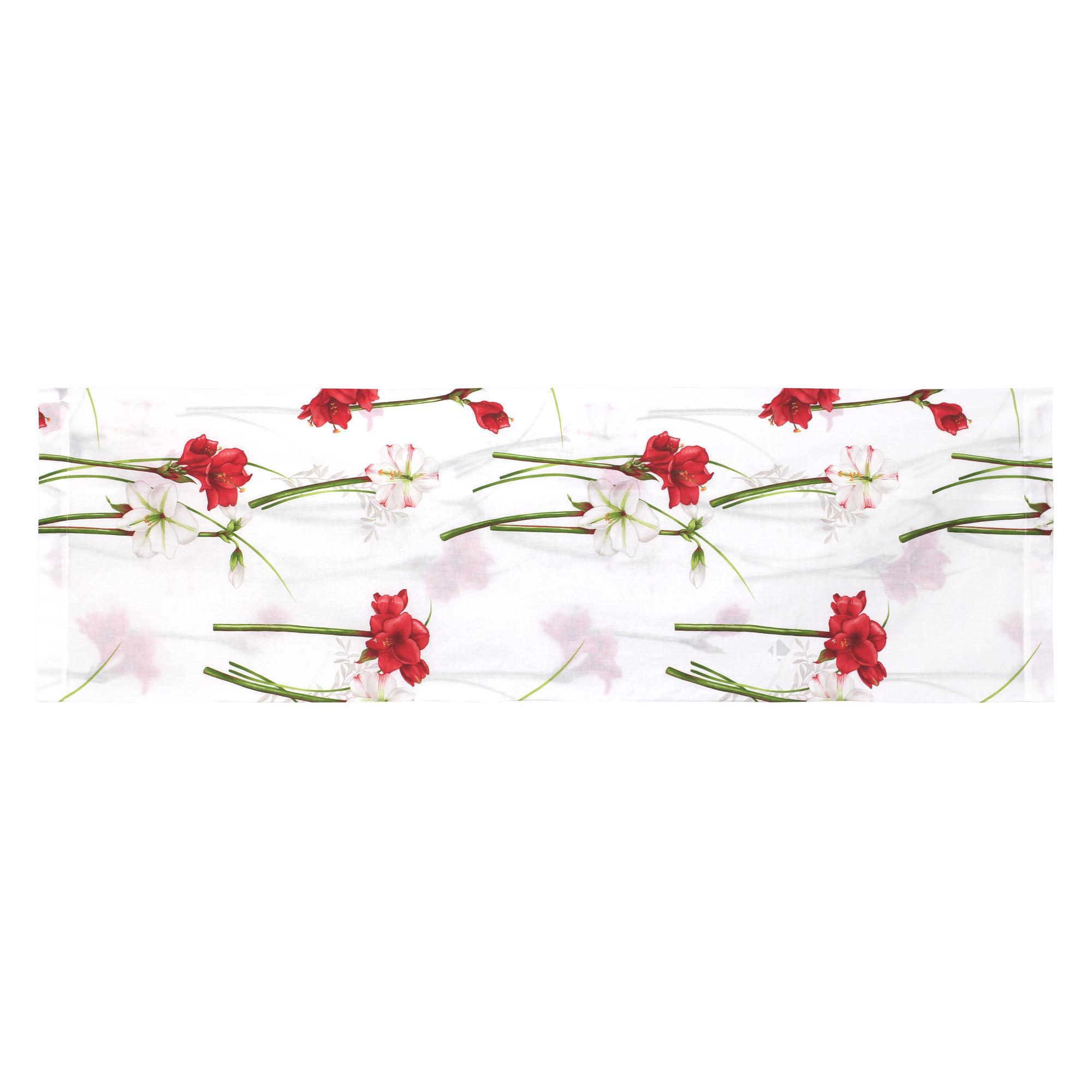 taie de traversin 140x43 cm 100 coton amaryllis blanc linnea linge de maison et. Black Bedroom Furniture Sets. Home Design Ideas