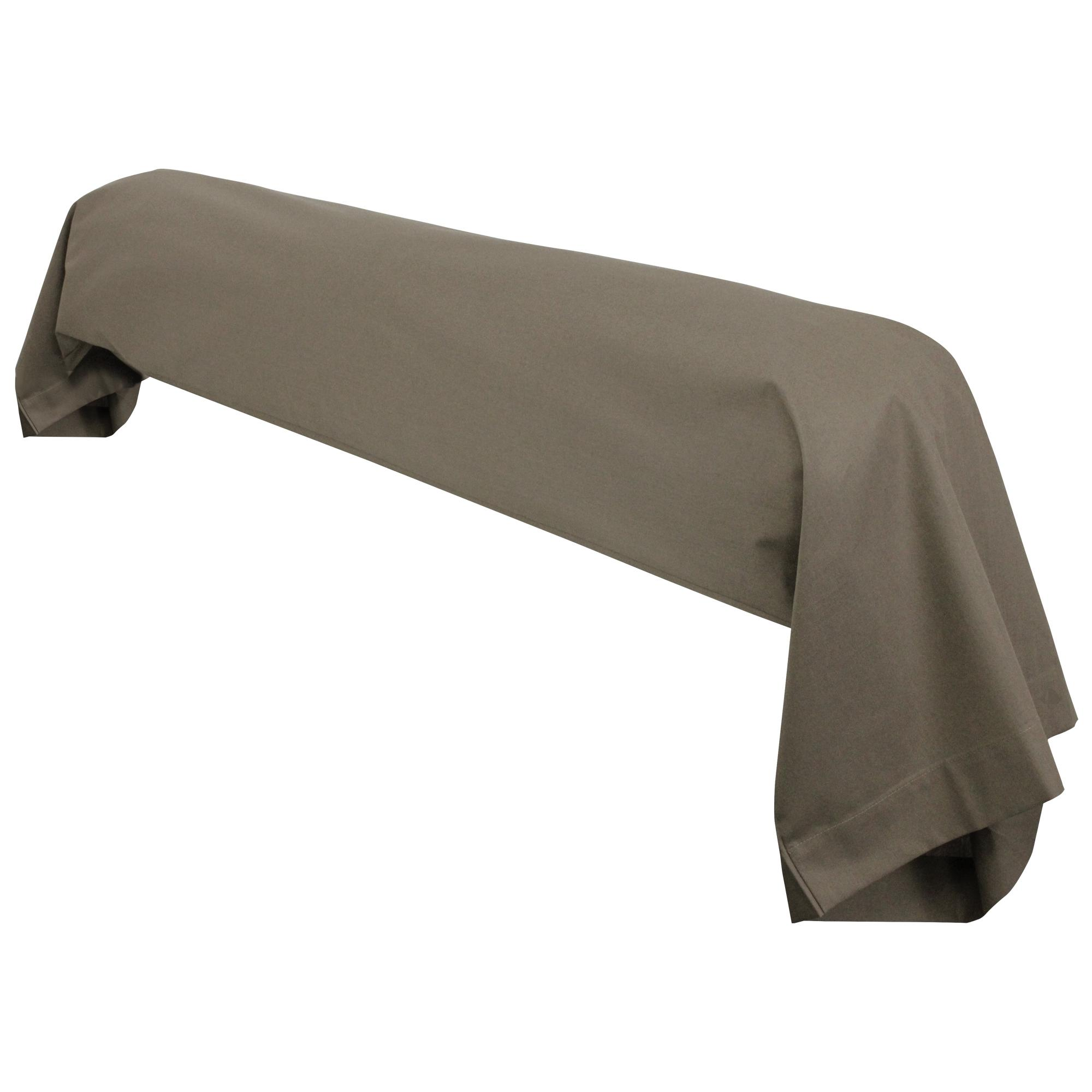 taie de traversin 140x43cm uni pur coton alto marron muscade linnea linge de maison et. Black Bedroom Furniture Sets. Home Design Ideas